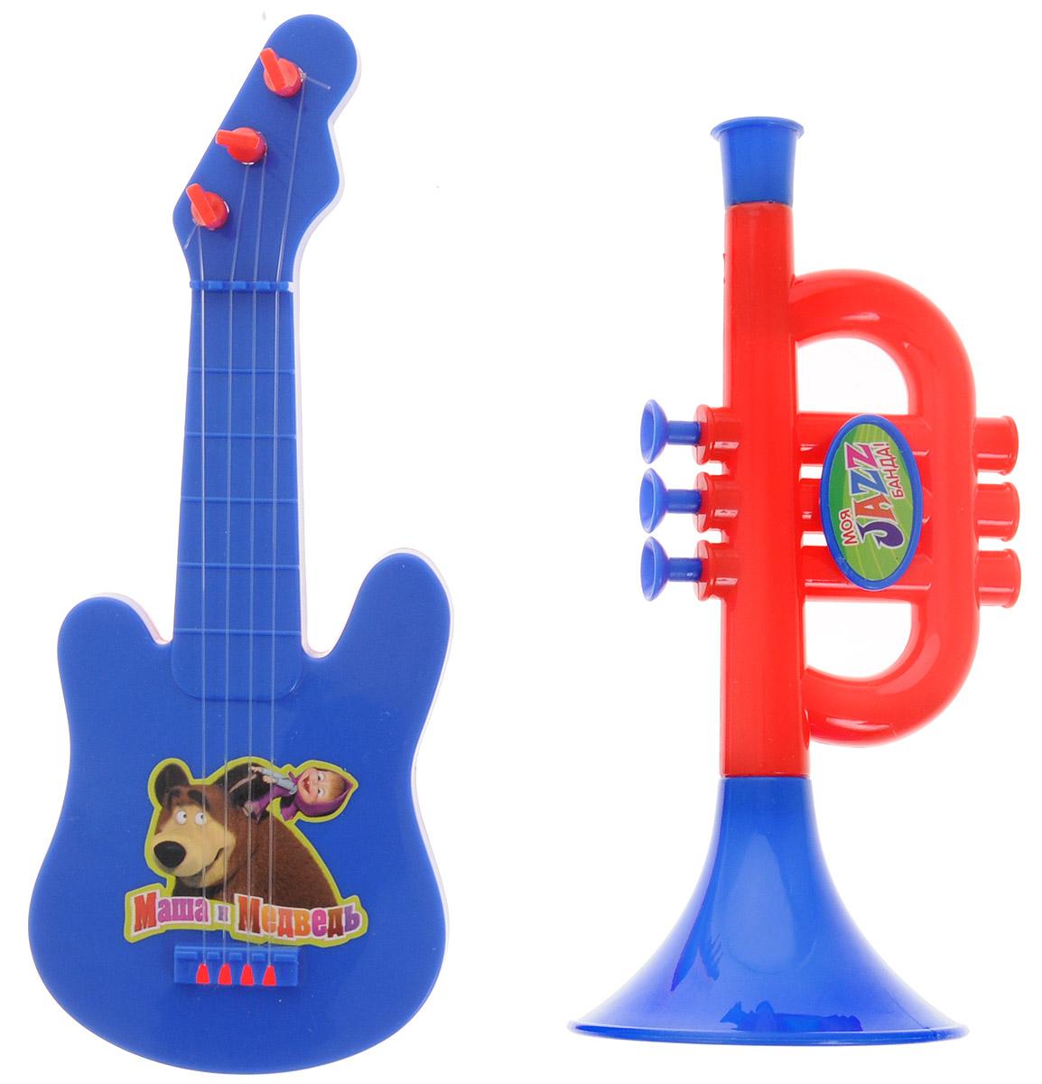 Маша и Медведь Набор музыкальных инструментов цвет гитары синий