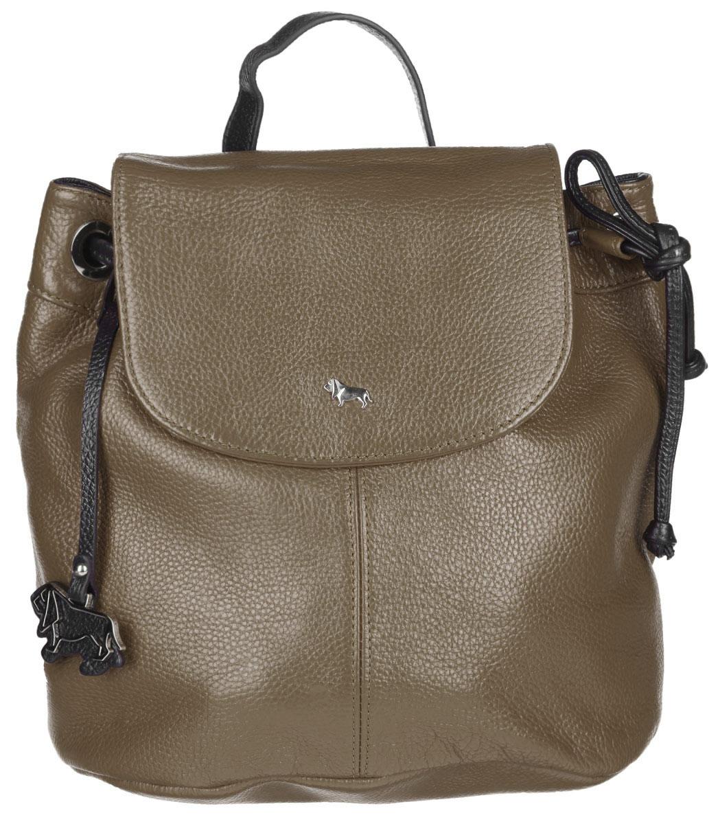 Рюкзак женский Labbra, цвет: тауп, черный. L-9916-1L39845800Стильный женский рюкзак Labbra выполнен из натуральной кожи с фактурным тиснением. Изделие имеет одно отделение, закрывающееся на клапан с магнитом и дополнительно на затягивающийся шнурок. Внутри находится прорезной карман на застежке-молнии и два открытых накладных кармана. Снаружи, на задней стенке расположен прорезной карман на застежке-молнии. Рюкзак оснащен съемной лямкой, регулируемой по длине, которая позволяет носить изделие на плечах, или в руках, как сумку. Изделие украшено фирменным брелоком. В комплект входит фирменный чехол для хранения. Стильный рюкзак Labbra прекрасно дополнит ваш образ.