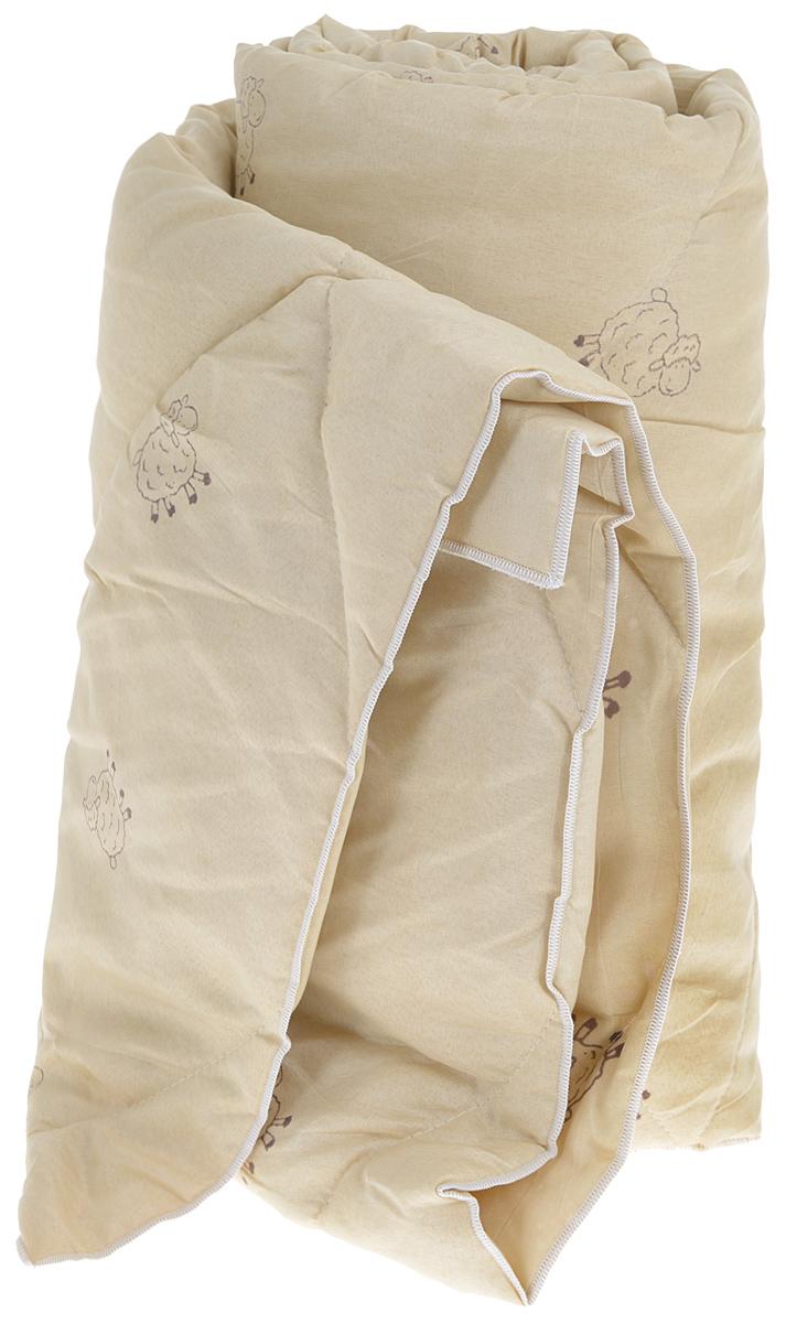 Одеяло Sleeper Находка, легкое, наполнитель: овечья шерсть, 140 x 200 см22(33)323_бежевыйЛегкое одеяло Sleeper Находка с наполнителем - овечьей шерстью, со стежкой, не оставит равнодушными тех, кто ценит здоровье и красоту. Изысканный цвет чехла отвечает современным европейским тенденциям, а наполнитель из овечьей шерсти придает изделию мягкость, упругость и повышенные теплозащитные свойства.Ткань чехла изготовлена из микрофибры - мягкого, приятного на ощупь материала.Материал чехла: микрофибра (100% полиэстер). Материал наполнителя: овечья шерсть. Масса наполнителя: 200 г/м2.