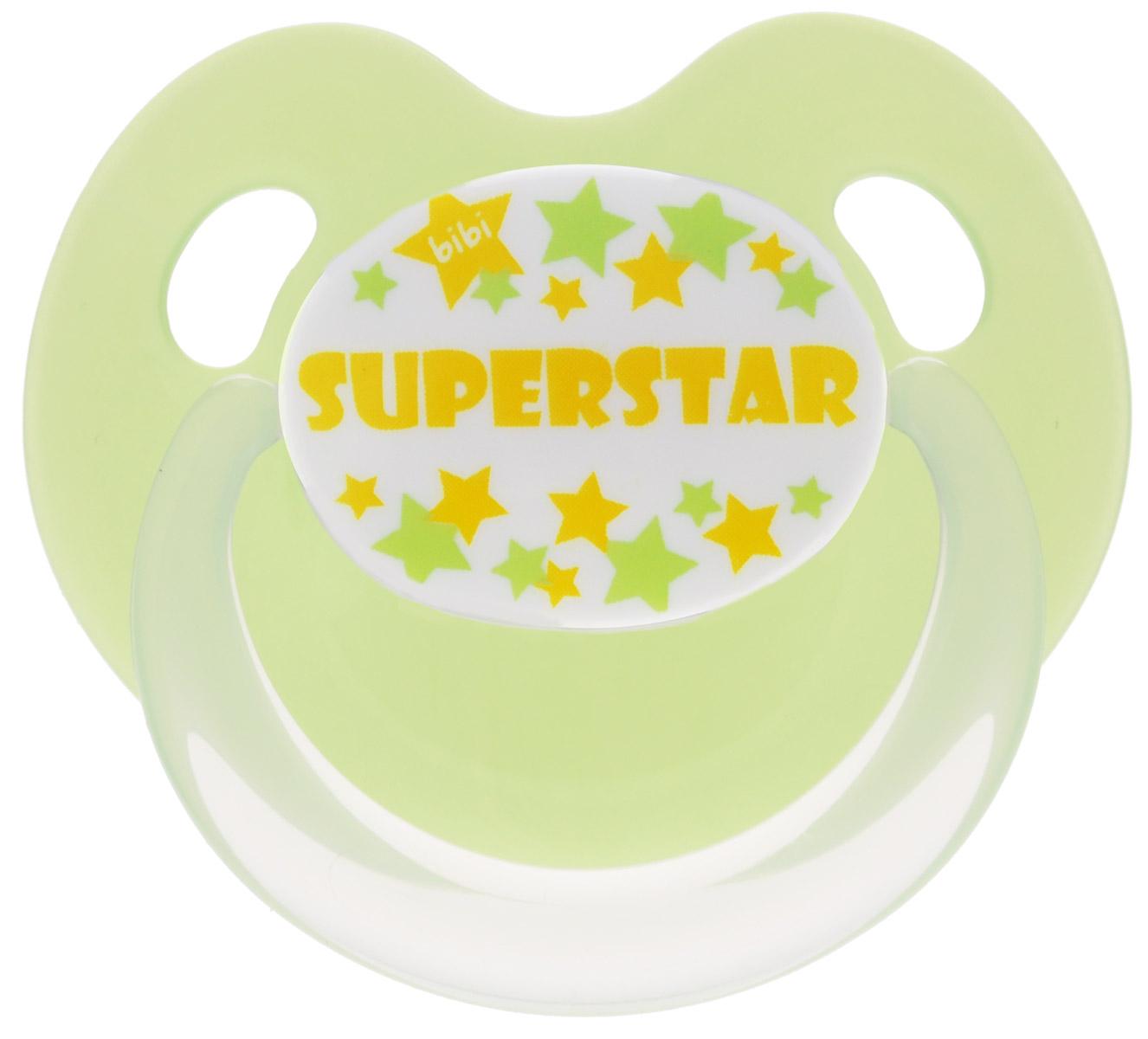 Bibi Пустышка силиконовая Dental Superstar от 6 до 16 месяцев mam пустышка силиконовая original от 6 до 16 месяцев цвет фиолетовый прозрачный 2 шт