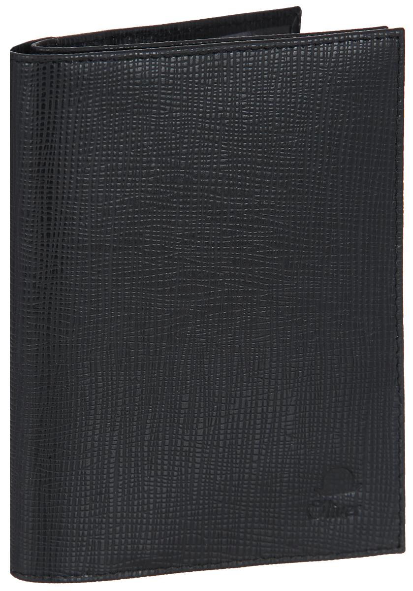 Бумажник водителя мужской Dimanche Oliver, цвет: черный. 071FS-80423Мужской бумажник водителя Dimanche Oliver изготовлен из натуральной кожи с фактурным тиснением. Внутри имеется отделение для паспорта с двумя прозрачными карманами, три боковых кармана, блок из прозрачного пластика с пятью файлами для документов водителя, карман для sim-карты и четыре прорезных кармана для визиток и пластиковых карт.Изделие упаковано в фирменную коробку.Такой бумажник не только защитит ваши документы, но и станет стильным аксессуаром, который прекрасно дополнит образ.