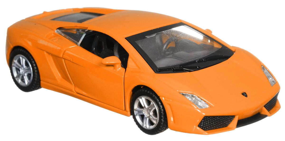 ТехноПарк Модель автомобиля Lamborghini Gallardo LP 560-4 цвет оранжевый технопарк машинка инерционная lamborghini gallardo lp 560 4 цвет красный