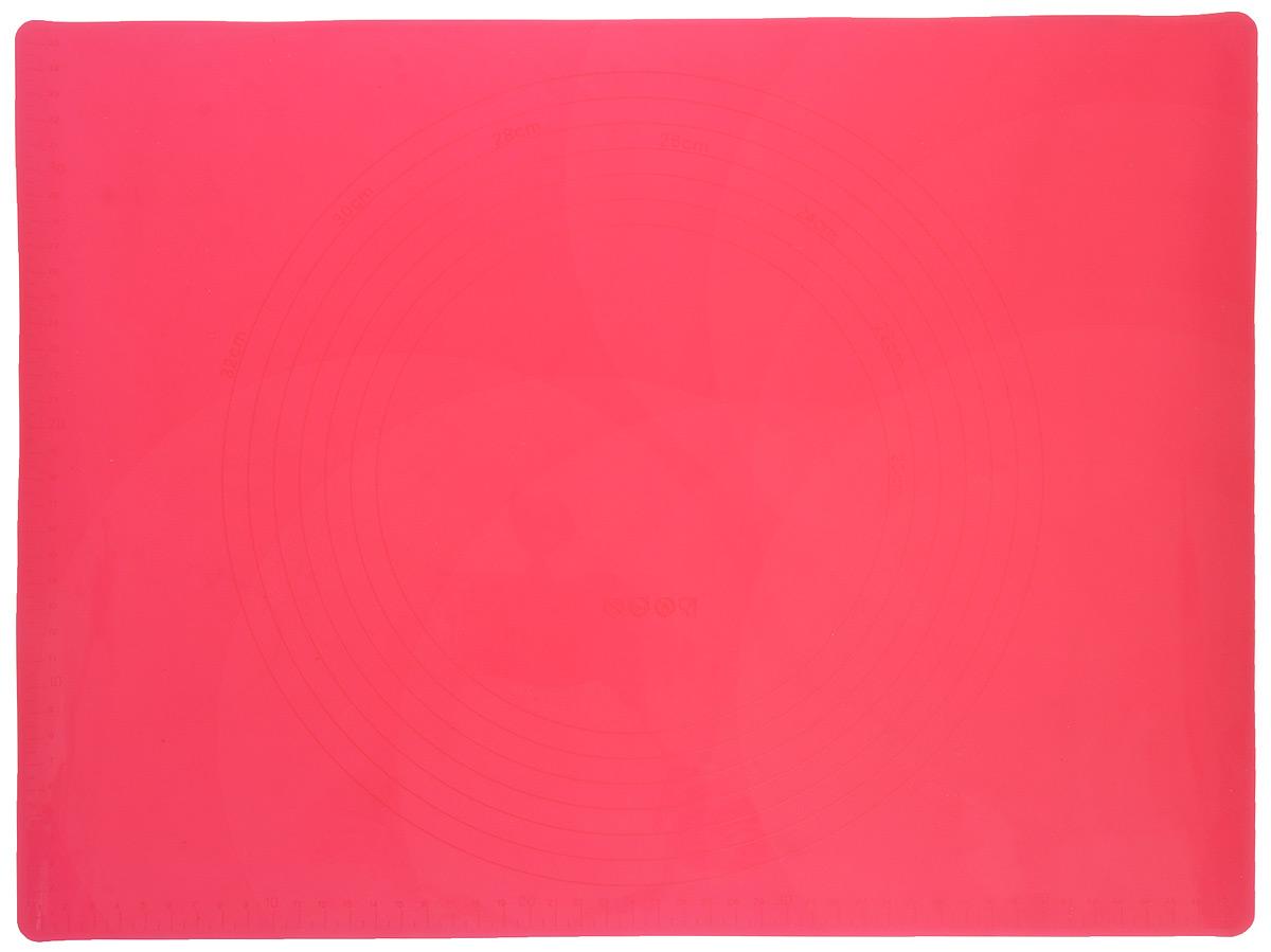 Коврик для теста Marmiton, силиконовый, цвет: красный, 48 х 36 см17010_красныйСиликоновый коврик Marmiton подходит для раскатки теста и обработки других продуктов. Онидеально прилегает к поверхности стола. Также коврик можно использовать вдуховках и микроволновых печах при температуре от -40°С до +240°С. Материал легко моется,устойчив к фруктовым кислотам. Коврик оснащен мерной шкалой по краю и круглым шаблономдля теста по центру. Раскатывая тесто на таком коврике, вы всегда сможете придать ему нужныйразмер.