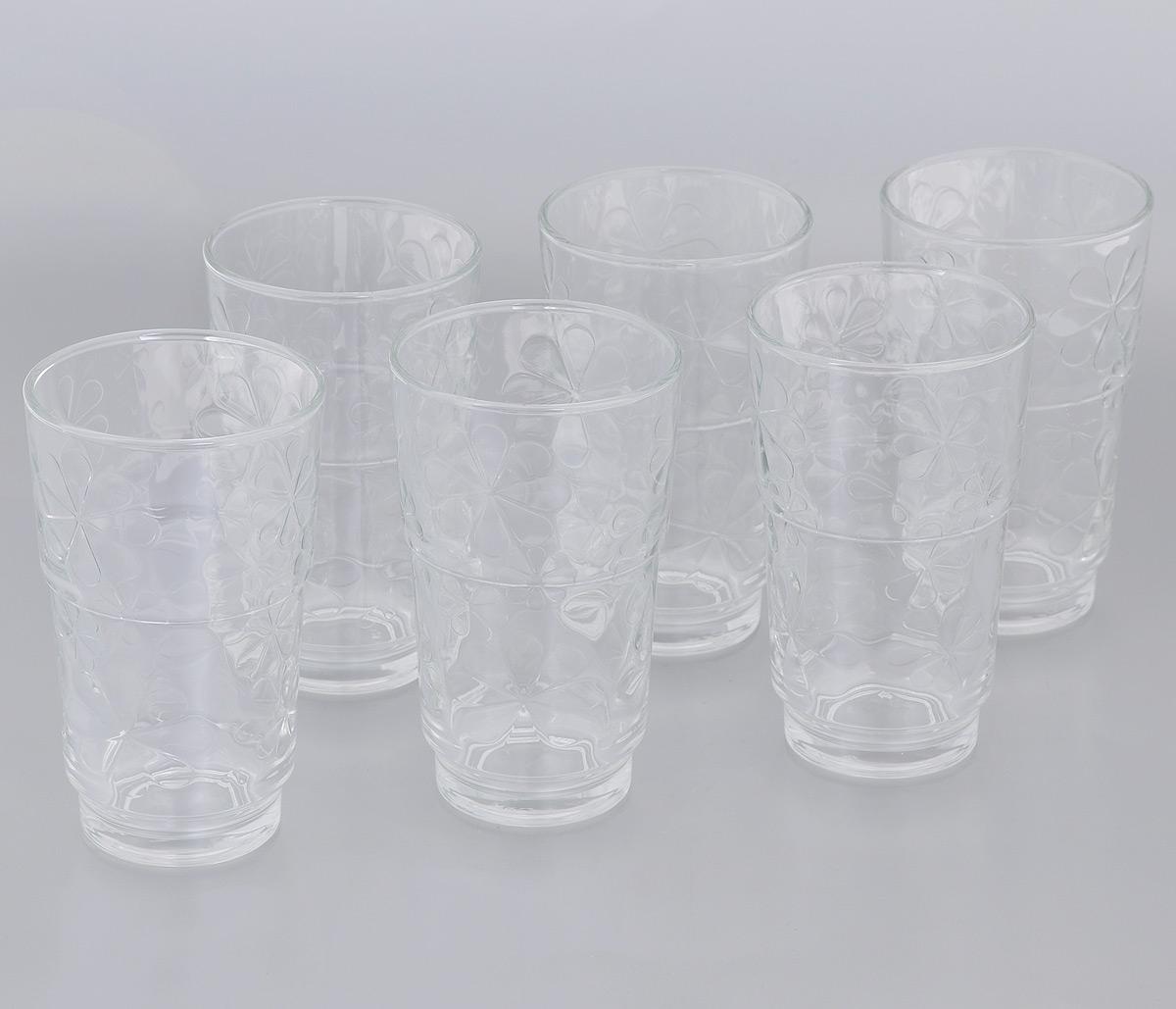 Набор стаканов Luminarc Funny Flowers, 270 мл, 6 штVT-1520(SR)Набор Luminarc Funny Flowers состоит из 6 стаканов, выполненных из стекла. Они отличаются особой легкостью и прочностью, излучают приятный блеск и издают мелодичный хрустальный звон. Стаканы станут идеальным украшением праздничного стола и отличным подарком к любому празднику.Можно мыть в посудомоечной машине.Диаметр стакана (по верхнему краю): 7,2 см.Высота: 12 см.