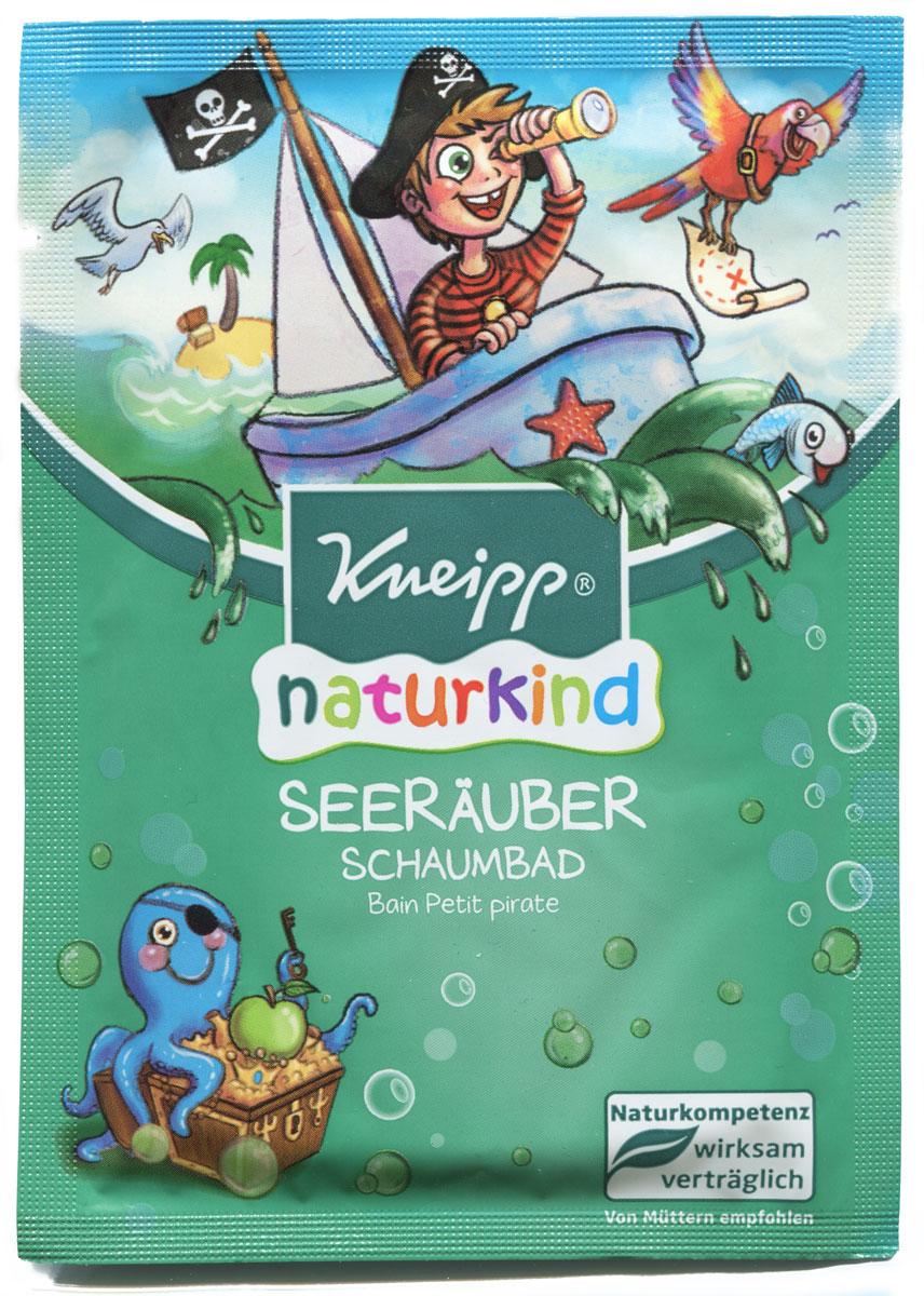 Kneipp Пена для ванны Пират 40 млELD-06Пена для ванн с натуральными растительными маслами - это удовольствие для всех пиратов, баз всякого страха сражающихся с долговечностью пены. Свежий аромат яблока, цвет воды и увлажняющие масла жожоба и экстракт календулы помогут юным героям чувствовать себя особенно комфортно.