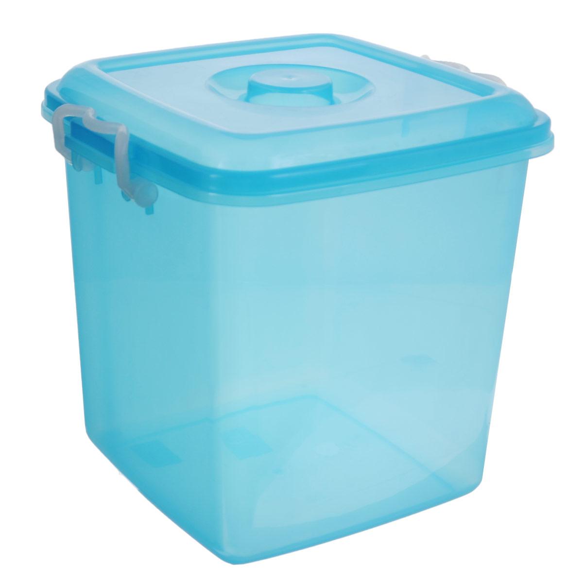 Контейнер для хранения Idea Океаник, цвет: голубой, 10 лS03301004Контейнер Idea Океаник выполнен из прочного пластика, предназначен для хранения различных бытовых предметов и мелочей.Контейнер снабжен эргономичной плотно закрывающейся крышкой со специальными боковыми фиксаторами.