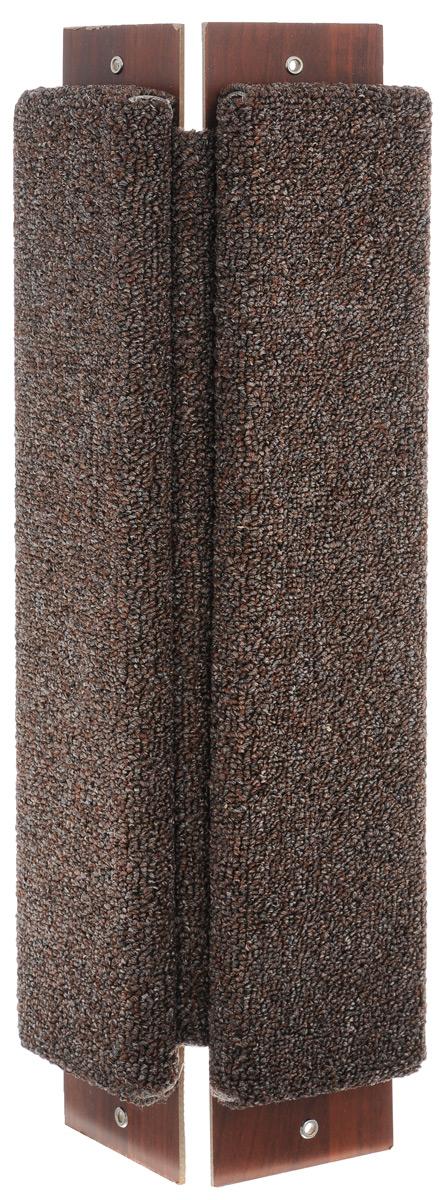 Когтеточка угловая Гамма Ковролин, с пропиткой, цвет: коричневый, 57 см х 21 см0120710Угловая когтеточка Гамма Ковролин предназначена для стачивания когтей вашей кошки и предотвращения их врастания. Натуральное волокно обеспечивает естественный уход за когтями питомца. Специальная пропитка привлекает внимание кошки, что позволяет сохранить неповрежденными мебель и другие предметы интерьера. Угловая когтеточка может крепиться на смежных поверхностях стен и пола.