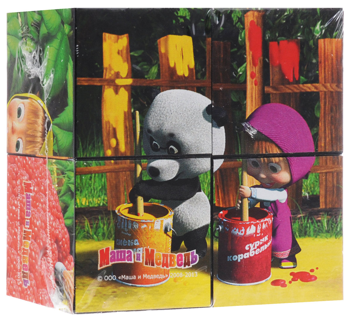 Step Puzzle Кубики Маша и Медведь Краска