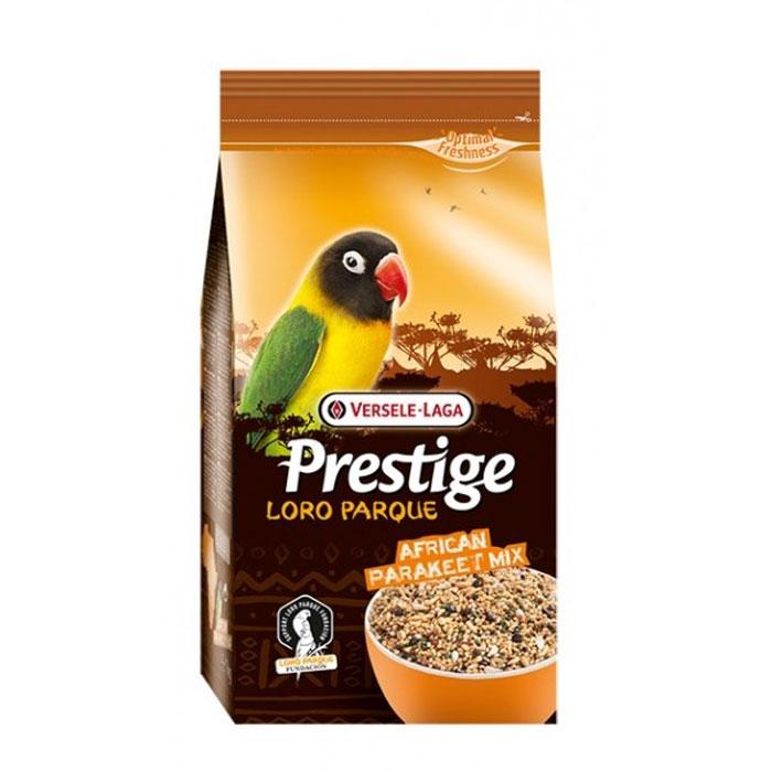 Корм для средних попугаев Versele-Laga African Parakeet Loro Parque Mix, 1 кг1042Корм для средних попугаев Versele-Laga Prestige Premium African Parakeet Loro Parque Mix изготавливается только из высококачественных семян, которыми этот вид птиц питается в природе. Смесь представляет собой полноценный корм, обогащенный гранулами VAM (витамины, аминокислоты и минералы) для поддержания превосходного здоровья попугаев. Эта адаптированная специально для африканских средних попугаев смесь была разработана совместно с группой ученых из заповедника Loro Parque (остров Тенерифе), где она успешно используется в качестве основного корма для неразлучников и других средних попугаев африканских видов. Коллекция Loro Parque включает в себя 3 тысячи попугаевых и представляет собой самую большую коллекцию попугаев в мире.Суточная норма кормления: указана на упаковке. Птица должна иметь постоянный доступ к свежей чистой питьевой воде. Давайте корм только комнатной температуры. Корм следует хранить в сухом прохладном месте в упаковке производителя.Состав: желтое просо, канареечное семя, белое просо, очищенный овес, гранулы VAM, японское просо, семена сафлора, гречиха, рис-сырец, овес, семена конопли, семена льна, раковины устриц.Анализ состава: протеин 14%, жир 10%, клетчатка 7%, зола 6%, кальций 0,9%, фосфор 0,3%.Добавки на кг: витамин А 6000МЕ, витамин D3 1200МЕ, витамин Е 14 мг.Вес: 1 кг.Товар сертифицирован.