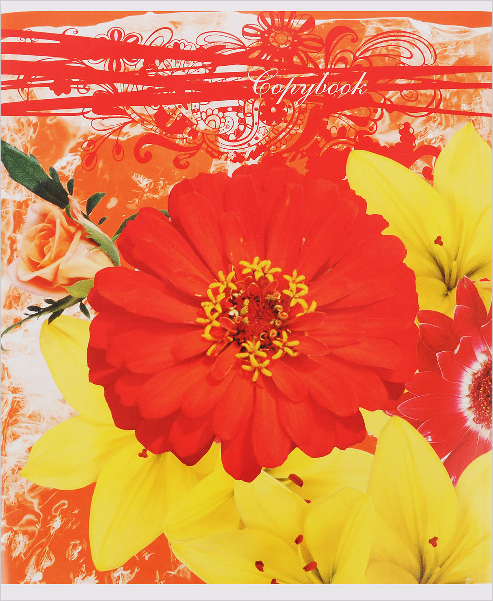 Полиграфика Тетрадь Floral Melody 96 листов в клетку цвет красный желтый72523WDТетрадь Полиграфика Floral Melody подойдет как школьнику, так и студенту. Обложка тетради выполнена из картона и дополнена красочным изображением в виде цветов. Внутренний блок состоит из 96 листов белой бумаги. Стандартная линовка в голубую клетку дополнена красными полями. Листы тетради соединены металлическими скобами.