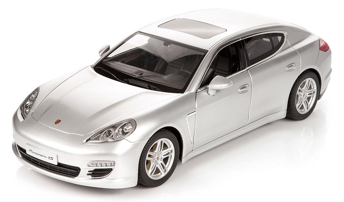 """Радиоуправляемая модель Rastar """"Porsche Panamera"""" станет отличным подарком любому мальчику! Все дети хотят иметь в наборе своих игрушек ослепительные, невероятные и крутые автомобили на радиоуправлении. Тем более, если это автомобиль известной марки с проработкой всех деталей, удивляющий приятным качеством и видом. Одной из таких моделей является автомобиль на радиоуправлении Rastar """"Porsche Panamera"""". Это точная копия настоящего авто в масштабе 1:10. Передние двери машины открываются. Возможные движения: вперед, назад, вправо, влево, остановка. Имеются световые эффекты. Пульт управления работает на частоте 27 MHz. Игрушка работает на сменном аккумуляторе (входит в комплект). Для работы пульта управления необходима батарейка 9V (6F22) (не входит в комплект)."""