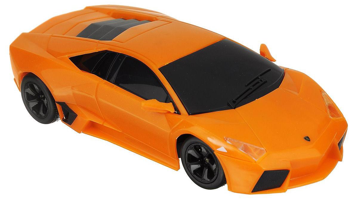 """Радиоуправляемая модель Maisto """"Lamborghini Reventon"""" с ярким привлекающим внимание дизайном обязательно понравится всем любителям красивых гоночных машин. Корпус выполнен из высококачественного пластика. Машина представляет собой копию, уменьшенную от реального прототипа в 24 раза. Машина высокодетализирована, с настоящими зеркалами."""