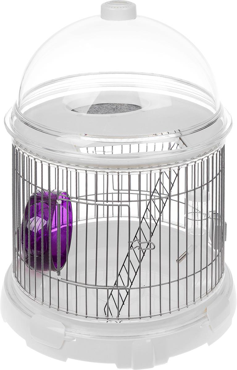 Комплект BioBubble Bundle для мелких животныхКВР2мПриводя в дом за собой маленького питомца, мы обязаны создать для него все необходимые условия, для хорошей жизни. Поэтому часто можно наблюдать за тем, как в одной квартире громоздятся на антресолях клетка для попугайчиков, вольер для хомяка, старый аквариум, а недавно купленная черепаха, барахтается в тазу до покупки террариума. Как раз для решения этой проблемы был создан BioBubble Bundle. Идея заключается в конструкции, которая может менять свою конфигурацию, для создания оптимальных условий жизни вашим животным. В одном комплекте собраны детали для формирования аквариума, террариума, клетки или теплицы, в которых могут проживать мелкие птицы, грызуны, рептилии или насекомые. Корпус выполнен из прочного пластика и нержавеющей стали. Имеется съемный поддон-наполнитель, для удобной уборки в клетке (террариуме). Клетка хорошо вентилируется и может стать домом даже для самых экзотических насекомых.Таким образом, приобретая BioBubble Bundle, вы получаете все необходимое, чтобы создать у себя дома заповедник с любыми маленькими питомцами, не тратясь на отдельные приспособления для их комфортного существования. Животные с течением лет могут сменять друг друга, но клетка останется востребованным в вашем доме при любых обстоятельствах.В комплект входит: - основание, - поддон, - подушечка-фильтр (угольный),- клетка, - поилка, - беговое колесо,- лесенка, - платформа, - зажим (4 шт), - купол,- крышка.Высота клетки: 55 см.Диметр клетки: 41 см.Диаметр бегового колеса: 14 см.