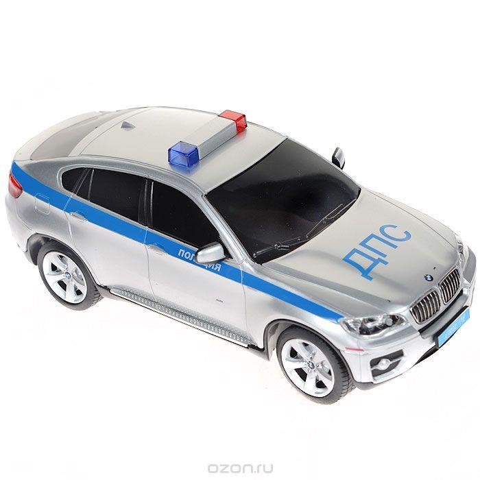 Rastar Радиоуправляемая модель BMW X6 Полиция цвет серебристый