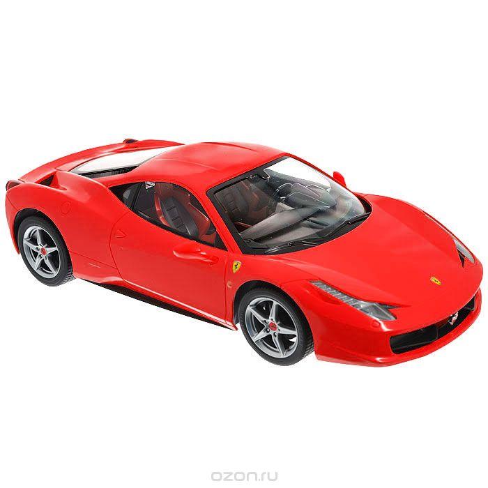 """Радиоуправляемая модель """"Ferrari 458 Italia"""" со световыми эффектами, являющаяся точной копией итальянского спортивного автомобиля, - отличный подарок не только ребенку, но и взрослому. Автомобиль с литым корпусом изготовлен из современных прочных материалов и обладает высокой стабильностью движения, что позволяет полностью контролировать его процесс, управляя без суеты и страха сломать игрушку. Основные направления движения автомобиля: вперед-назад-влево-вправо. Движение вперед и назад сопровождается сигнальными световыми эффектами фар. В комплект входят автомобиль, пульт управления и инструкция на русском языке. Автомобиль работает от 5 батарей типа АА, пульт управления - от 1 батареи 9V 6F22 (не входят в комплект)."""