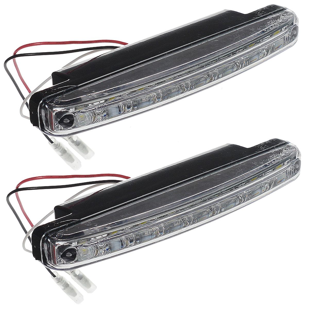 Дневные ходовые огни AVS DL-8S, 2 шт96281496Дневные ходовые огни AVS DL-8S - это лампы грузового или легкового автомобиля, используемые для повышения видимости автотранспортного средства в дневное время.Напряжение: 12 В.Мощность: 2,4 Вт х 2.Количество светодиодов: 8 х 2.Модель светодиода: Epistar (SMD 5050 0.3W).Температура свечения: 5000 К.Общий световой поток: 240 Лм.IP защита: 55.