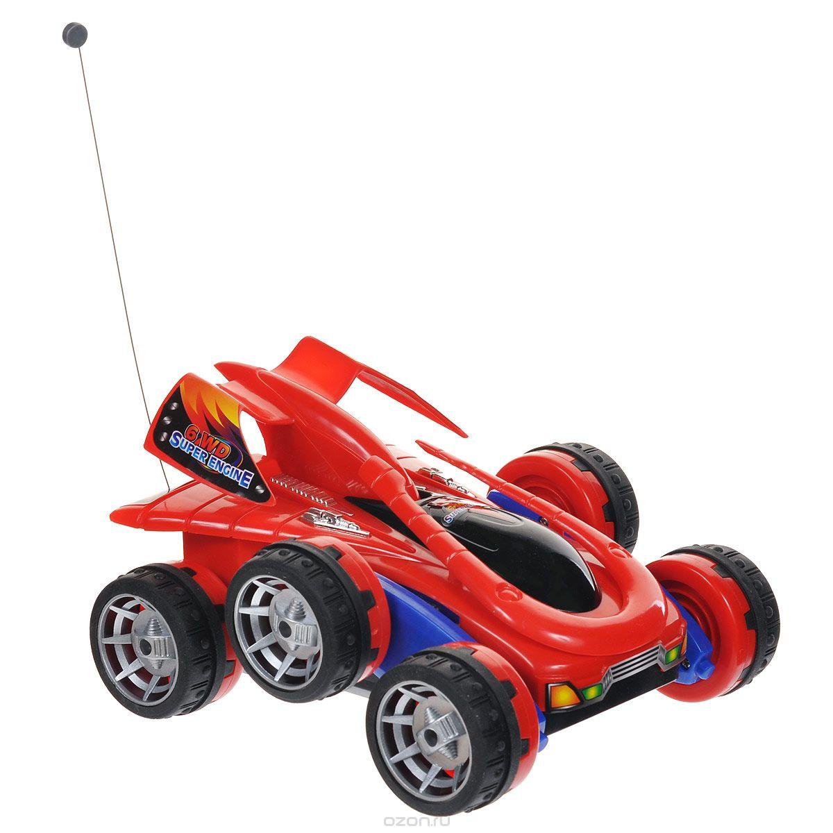 """Радиоуправляемая модель Regalia """"Акробат"""" доставит удовольствие вашему ребенку и приобщит его к миру техники и автомобилей. Машинка при помощи пульта управления движется вперед, дает задний ход, поворачивает влево и вправо, останавливается. Также, в отличие от радиоуправляемых машин предыдущего поколения, модель оснащена уникальным подвижным шасси, позволяющим свободно переворачиваться вперед и назад. Корпус машинки выполнен из прочного пластика, шины - из резины. Машина развивает хорошую скорость и обладает высокой стабильностью движения, что позволяет полностью контролировать процесс, управляя уверенно и без суеты. Повышенная проходимость модели позволяет преодолевать препятствия, играть не только дома, но и на улице. В комплект входят модель, пульт дистанционного управления, батарейка для пульта, аккумуляторная батарейка для машины, зарядное устройство к ней и инструкция по эксплуатации модели на русском языке. Такая модель станет отличным подарком любителю скорости и..."""