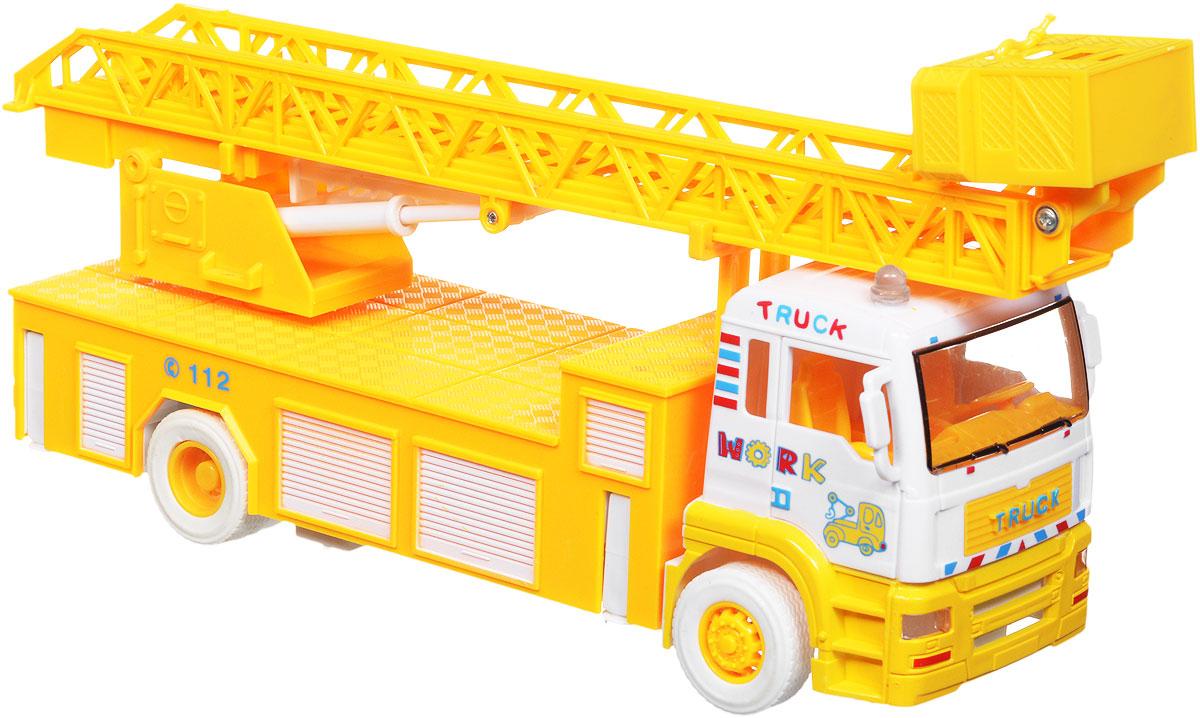 Zhorya Автовышка инерционная цвет желтый пламенный мотор машинка инерционная volvo пожарная охрана