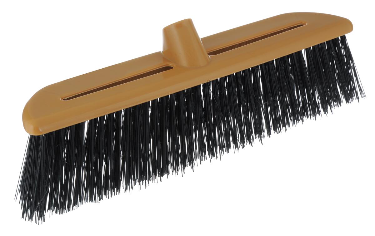 Щетка-насадка Альтернатива, жесткая, цвет: коричневый, черный04006Щетка-насадка Альтернатива, изготовленная из прочного пластика, предназначена для уборки на улице. Жесткие и длинные волоски щетки-насадки не оставят от грязи и следа. Оригинальная, современная щетка для швабры, которую можно подобрать к любому интерьеру, сделает уборку эффективнее и приятнее.Универсальная резьба подходит ко всем видам ручек.Общий размер щетки-насадки: 39 см х 7 см х 14 см.Длина ворса: 8 см.