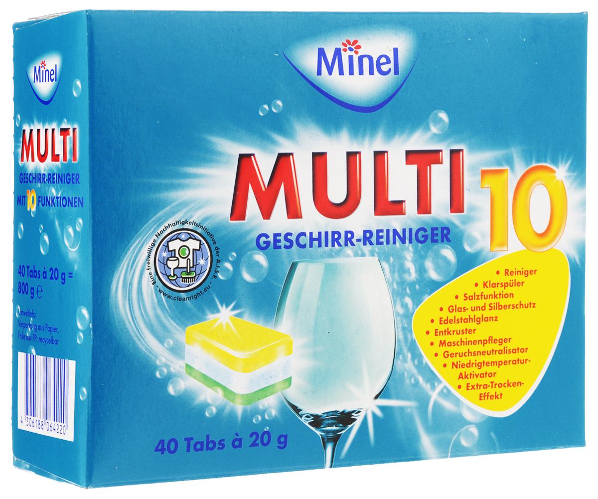 Таблетки для посудомоечной машины Minel Multi 10, 40 х 20 гS03301004Таблетки для посудомоечной машины Minel Multi 10 многофункциональны: выступают как регенерирующая соль, ополаскиватель, защита стекла, защита нержавеющей и серебряной посуды. Функции: - удаление грязи быстро и надежно, - функция ополаскивателя, - функция Соль,- защита стекла и серебра, - Power-Entkruster: очистка засохших остатков пищи и тяжелых наслоений, - блеск нержавеющей стали, - низкотемпературная система, - нейтрализатор запаха, - растворяет жир, - эффект быстрой сушки. Таблетки содержат добавки, предотвращающие быстрое образование накипи и эффективно удаляющие чайный налет, а также энзимы - биодобавки для активного мытья посуды при температуре 50-55°С. Таблетки защищают вашу посудомоечную машину и продлевают срок ее службы. Состав: до 30% фосфаты, 5-15% отбеливатель на основе кислорода, неионные тензиды, поликарбоксилаты, менее 5% фосфонаты, ароматические вещества, энзимы, метил изотиазолиноны, Benz изотиазолиноны, бутил карбамата. Товар сертифицирован.