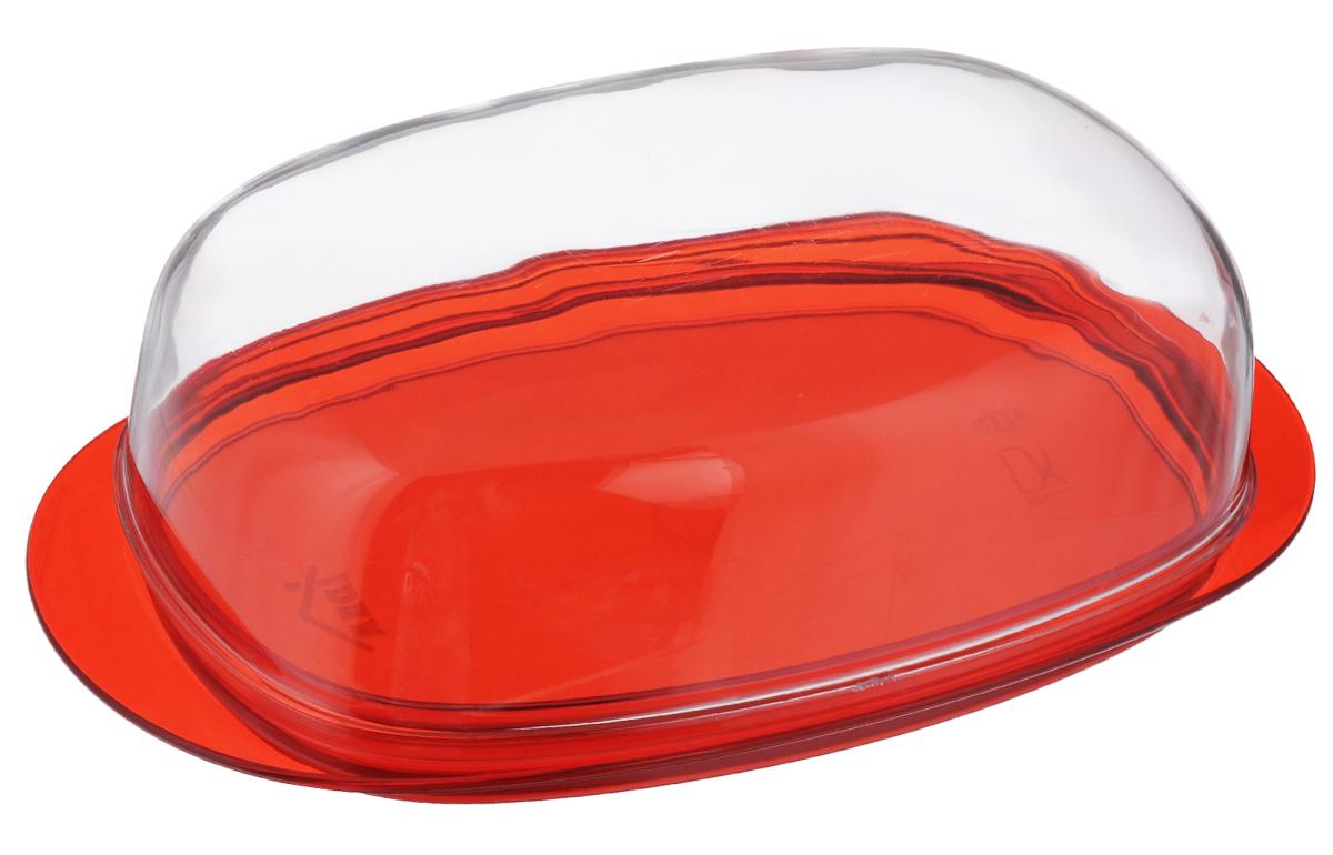 Масленка Idea Кристалл, цвет: красный, прозрачный54 009312Масленка Idea Кристалл изготовлена из пищевого пластика. Изделие состоит из подноса и прозрачной крышки. Крышка плотно закрывается, сохраняя масло вкусным и свежим. Масленка Idea Кристалл станет прекрасным дополнением к коллекции ваших кухонных аксессуаров. Размер подноса: 19 см х 10,5 см х 1,5 см. Размер крышки: 16 см х 9,5 см х 5 см.