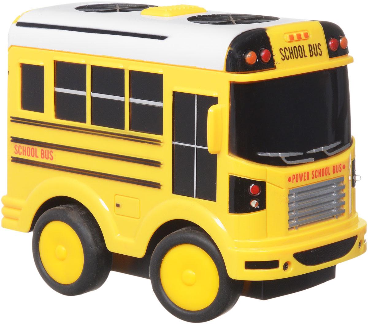 """Школьный автобус на радиоуправлении """"Zhorya"""" станет отличным подарком для вашего ребенка! Игрушка представляет собой радиоуправляемый автобус, который оснащен 2-канальным управлением, а так же световыми и звуковыми эффектами. Модель может ездить во всех направлениях. Управление осуществляется с небольшого дистанционного пульта. Для работы игрушки необходим сменный аккумулятор (входит в комплект). Для работы пульта управления необходима 1 батарейка 9Vтипа """"Крона"""" (товар комплектуется демонстрационной)."""