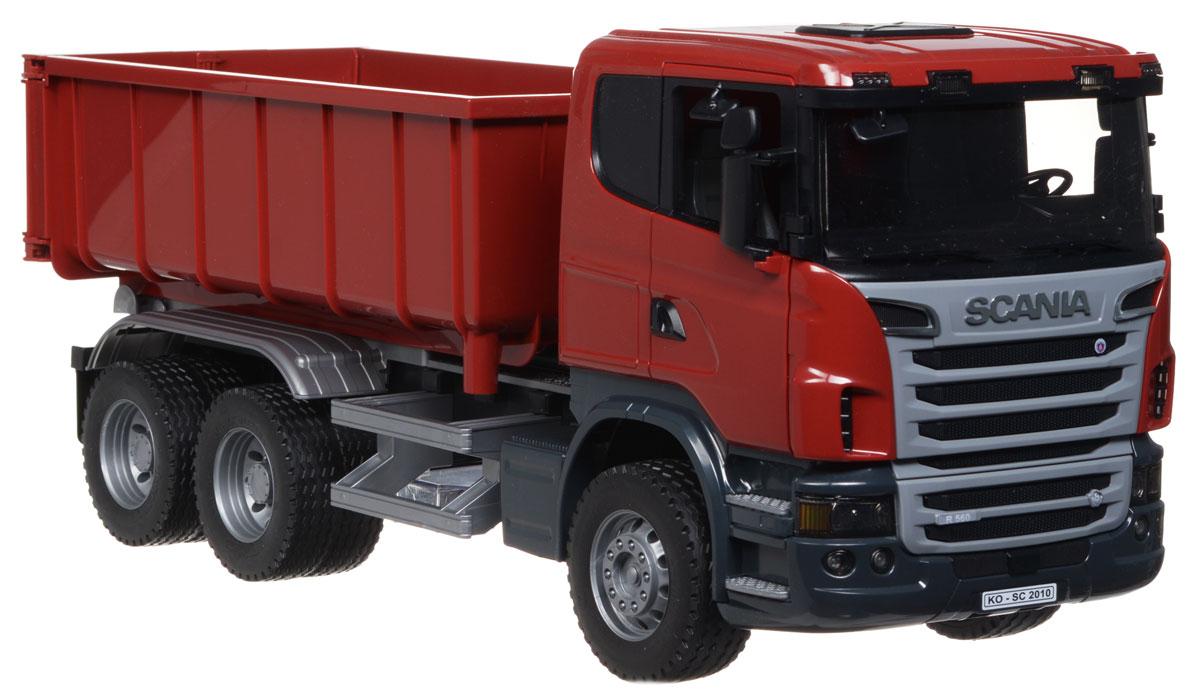 Bruder Самосвал-контейнеровоз Scania самосвал контейнеровоз bruder mack 1 шт разноцветный 02 822