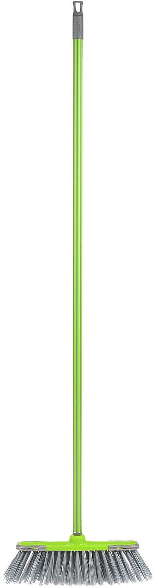 Щетка дл пола York Суприм, мягкая, с рукояткой, цвет: салатовый, длина 129 см531-105Щетка York Суприм изготовлена из полипропилена и металла и предназначена для уборки сухого мусора. Ворс щетки мягкий. Черенок оснащен петлей, которая позволит повесить его на крючок, также универсальная резьба, подходит ко всем съемным швабрам-насадкам и щеткам.Такая щетка позволит качественно и быстро собрать мусор.Размер щетки: 34 см х 9 см.Длина ворса: 8 см.Длина черенка: 120 см.