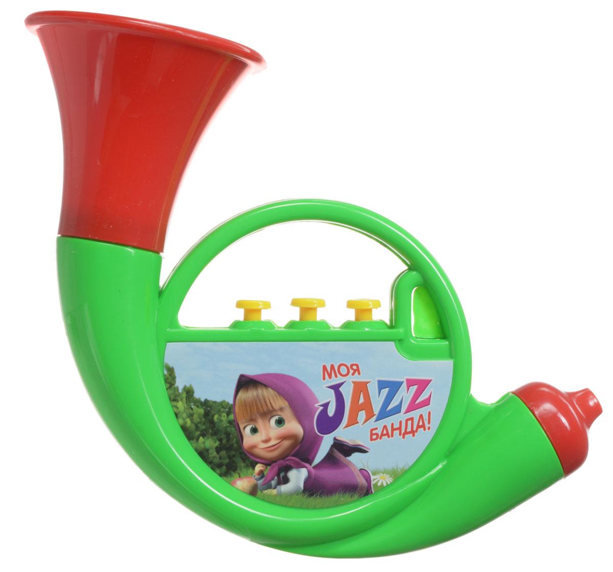 Маша и Медведь Музыкальная игрушка Труба цвет зеленый