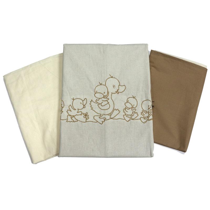 Топотушки Комплект детского постельного белья Капучино цвет бежевый коричневый 3 предмета
