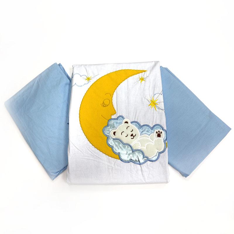 Топотушки Комплект детского постельного белья Марсель цвет голубой