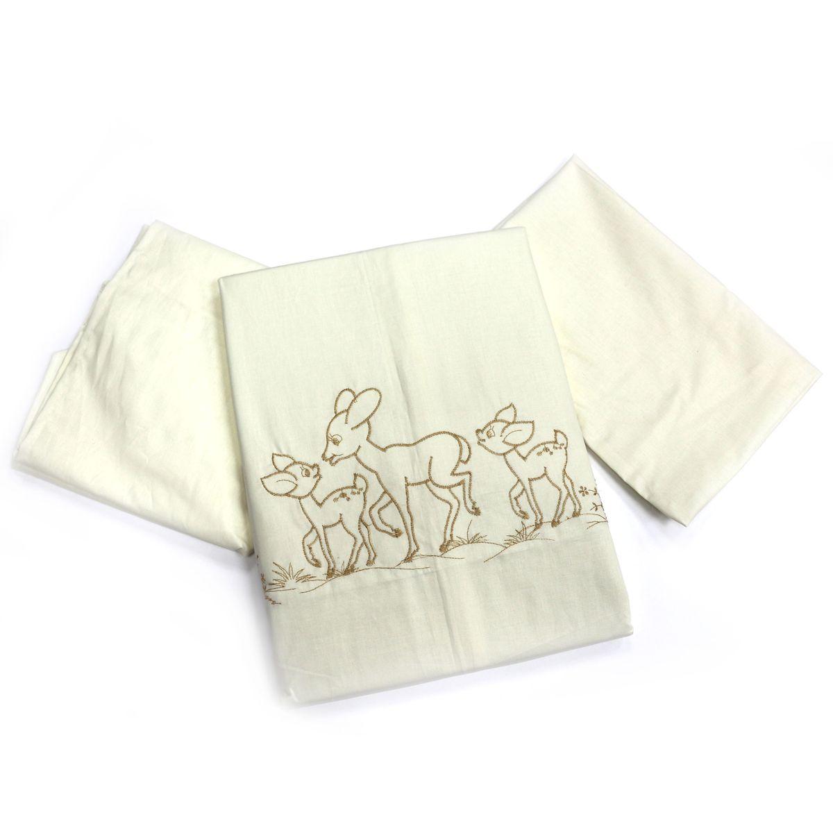 Топотушки Комплект детского постельного белья Бамбино цвет бежевый5145Изысканный и нежный комплект!Безукоризненное сочетание стиля и нежности создают комфорт Вашему малышу и обеспечат ему спокойный и здоровый сон.Сменный комплект постельного белья из 3 предметов для детской кроватки.Комплект создает для Вашего ребенка уют, комфорт и безопасную среду с рождения; современный дизайн и цветовые сочетания помогают ребенку адаптироваться в новом для него мире. Комплекты «Топотушки» хорошо вписываются в интерьер, как детской комнаты, так и в спальни родителей.Как и все изделия «Топотушки» данный комплект отражает самые последние технологии, является безопасным для малыша и экологичным. Российское происхождение комплекта гарантирует стабильно высокое качество, соответствие актуальным пожеланиям потребителей, конкурентоспособную цену.Наволочка 40х60см, пододеяльник 147х112см, простынь на резинке 120х60см