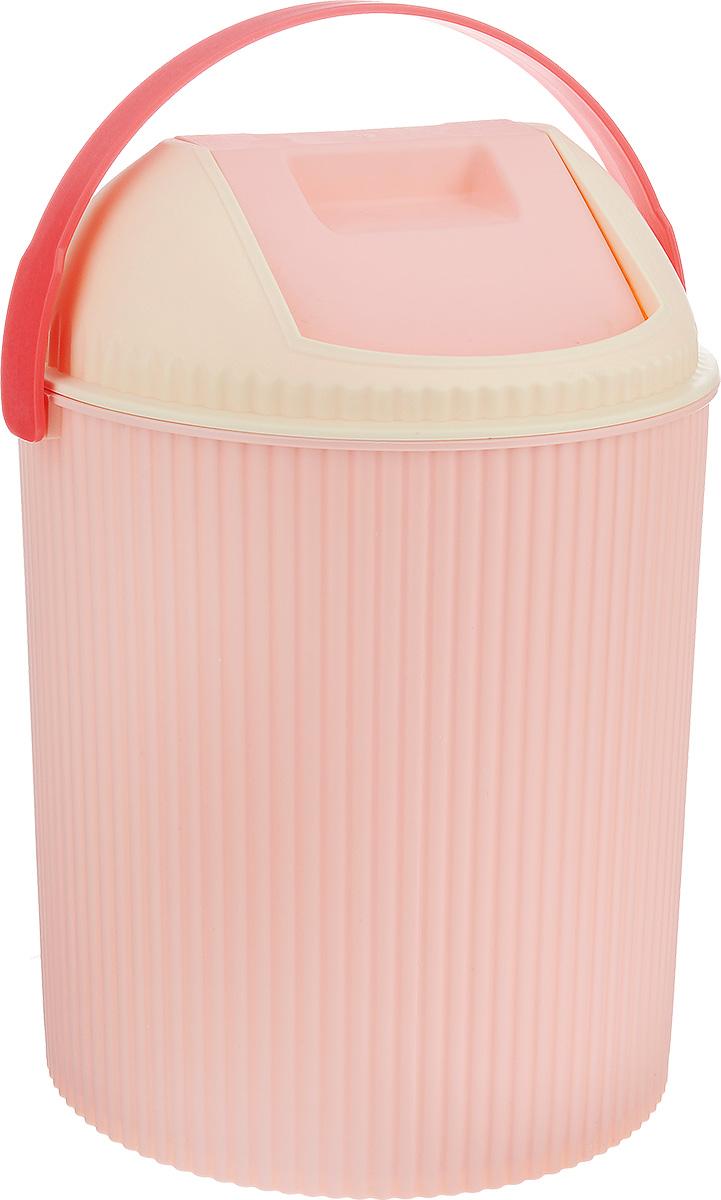 Ведро для мусора Изумруд, с крышкой, цвет: розовый, 20 лCLP446Ведро Изумруд изготовлено из прочного пластика. Ведро оснащено закрывающейся крышкой с подвижной верней частью. Надавив на верхнюю стенку крышки, вы положите мусор, не снимая крышку полностью. Такое ведро прекрасно подойдет для различных хозяйственных нужд: для уборки или хранения мусора.Диаметр ведра (по верхнему краю): 31 см.Высота (без учета крышки): 33 см. Высота (с учетом крышки): 43,5 см.