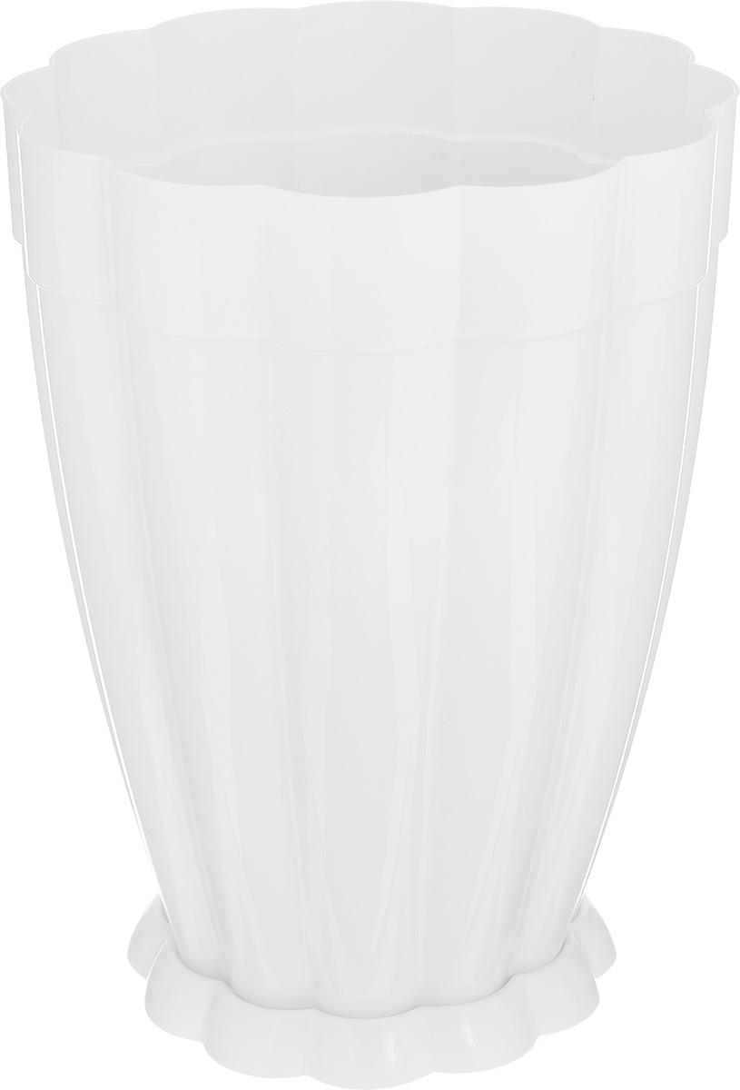 Горшок цветочный Альтернатива Фантастика, с поддоном, цвет: белый, 3 лZ-0307Цветочный горшок Альтернатива Фантастика предназначен для выращивания цветов, растений и трав в домашних условиях. Изготовлен из прочного пластика и декорирован рельефом. Изделие снабжено поддоном, имеет необычную вытянутую форму, что идеально подойдет для растений с большой корневой системой. Оригинальный дизайн прекрасно впишется в интерьер помещения. Объем: 3 л. Диаметр горшка (по верхнему краю): 16,5 см. Высота горшка: 21 см. Диаметр поддона: 12 см.