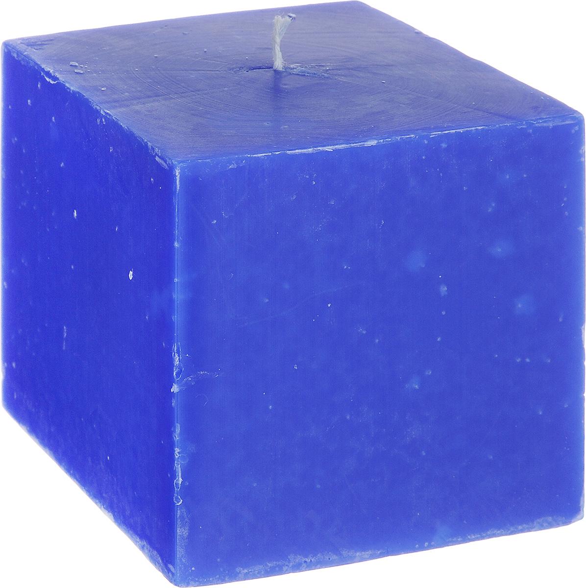 Свеча декоративная Proffi Home Квадрат, цвет: синий, 9,5 х 9,5 х 9,5 смRG-D31SСвеча Proffi Home Квадрат выполнена из парафина и стеарина в классическом стиле. Изделие порадует вас ярким дизайном. Такую свечу можно поставить в любое место, и она станет ярким украшением интерьера. Свеча Proffi Home Квадрат создаст незабываемую атмосферу, будь то торжество, романтический вечер или будничный день.