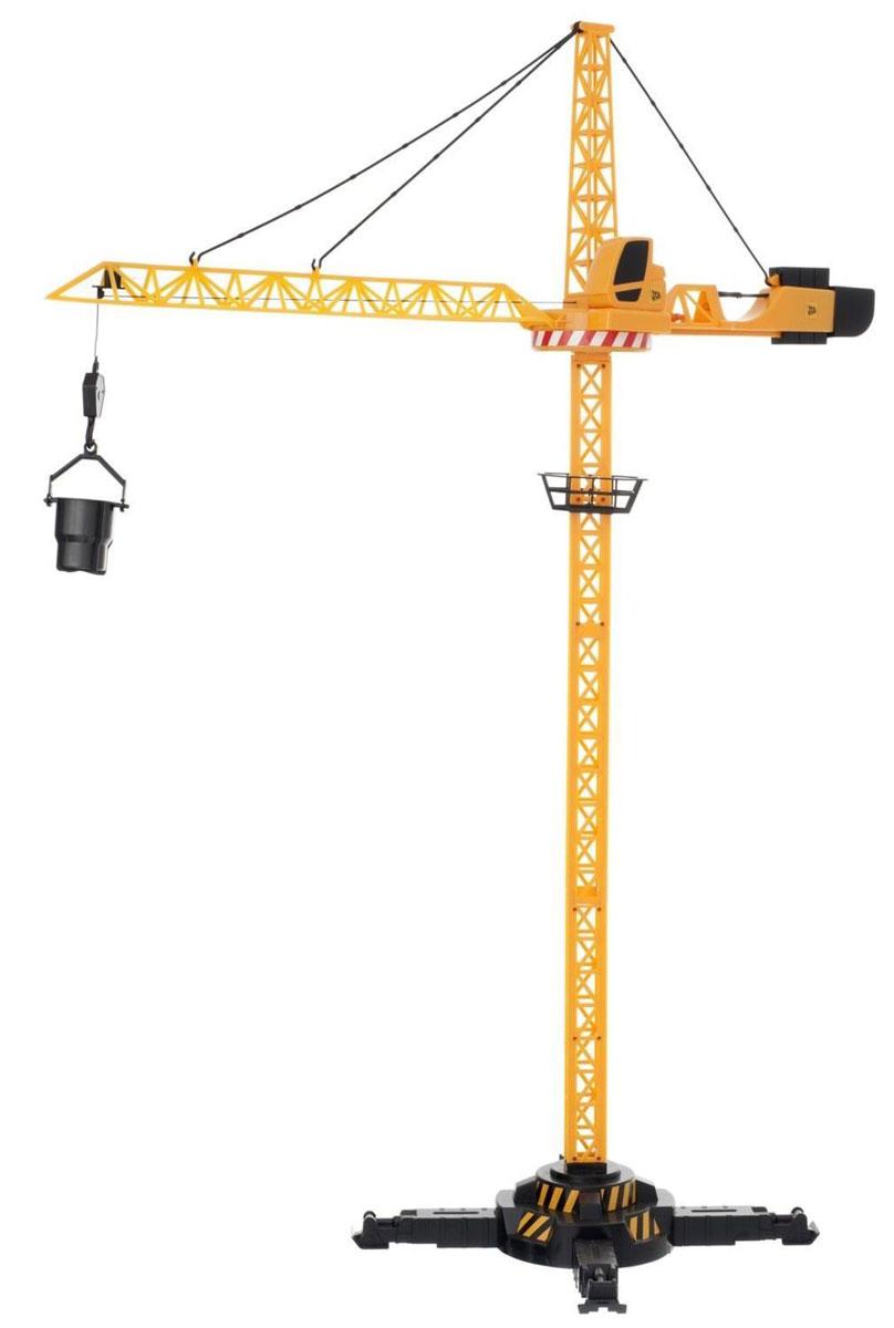 Почувствуй себя настоящим строителем с башенным краном JCB на радиоуправлении! Радиоуправляемый башенный кран JCB сделан из высококачественной прочной пластмассы, что позволит ещё дольше играть с ним, не боясь поломок. Игрушка высотой целых 120 см является уменьшенной копией своего прототипа - современной строительной техники JCB. Управляй башенным краном с помощью пульта! Поднимай и опускай на нужную высоту строительные материалы, двигай стрелу крана вперед или назад, поворачивай кран вокруг своей оси и аккуратно опускай кубики на нужное место. Построй свой уникальный многоэтажный дом! Кран имеет прочную устойчивую конструкцию, что не позволит ему случайно упасть при транспортировке грузов. Кроме того, кран очень легко и быстро собирается и разбирается - достаточно отцепить три крючка, и стрела сложится. В комплекте вместе с краном идут разные приспособления для подъёма грузов, пульт управления, а также наклейки для украшения. Удивите своего маленького...