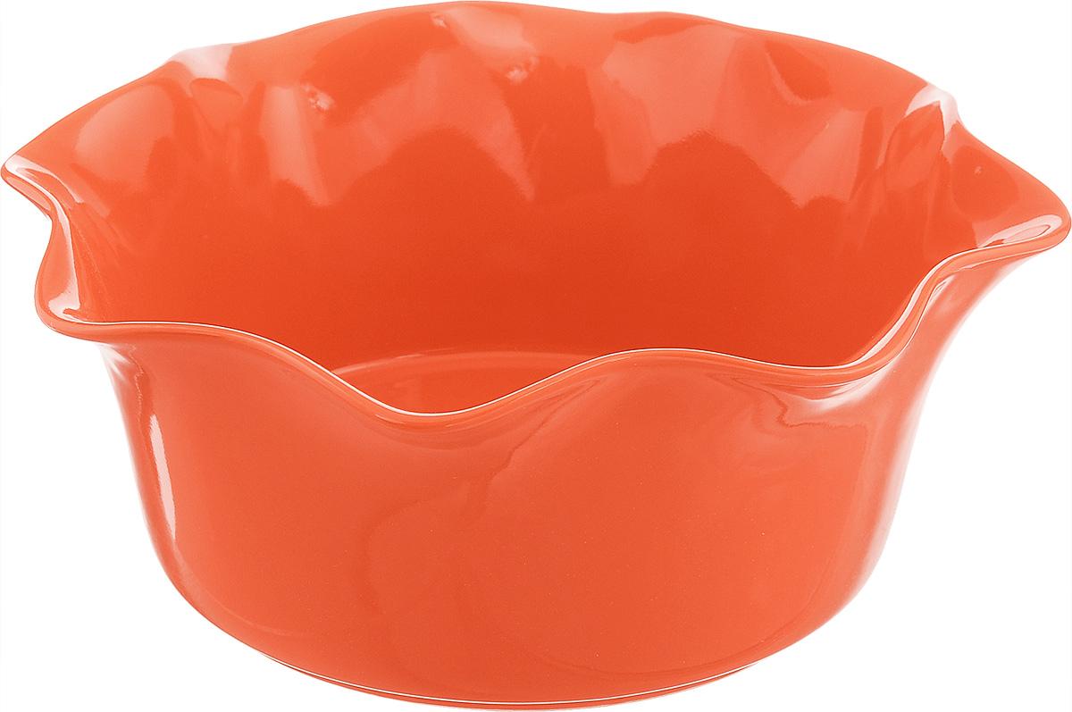 Форма для выпечки Frybest Provance, круглая, цвет: оранжевый, диаметр 25 смFS-91909Круглая форма для выпечки Frybest Provance изготовлена из экологически чистой глазурованной керамики, не выделяет вредных химических веществ во время готовки. Форма равномерно нагревается и долго сохраняет тепло, за счет чего блюда получаются изумительно нежными и сочными и сохраняют все витамины и микроэлементы. 180°С - оптимальная температура для медленного томления.Форма имеет волнистые края и высокие стенки. Идеально подходит для семейных ужинов и праздников, эта форма станет хорошим украшением стола - готовое блюдо не нужно перекладывать в другую посуду. Форма подходит для приготовления блюд в духовке (до 180°С) и микроволновой печи, можно мыть в посудомоечной машине. Диаметр формы (по верхнему краю): 25 см. Высота стенки: 10,5 см.