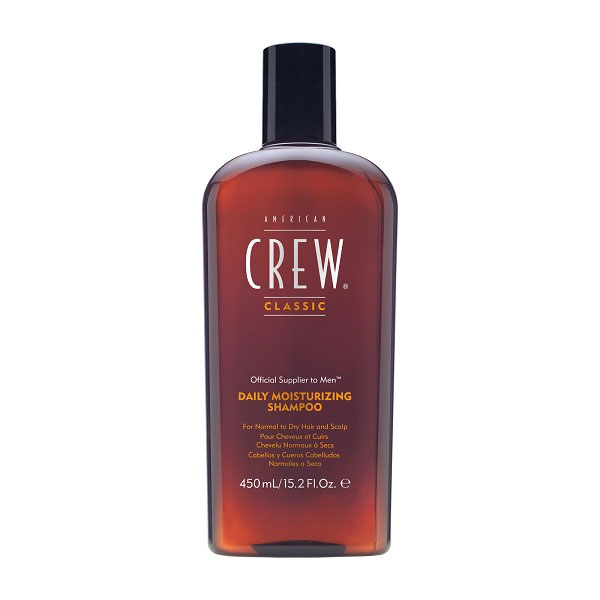 American Crew Шампунь для ежедневного ухода за нормальными и сухими волосами увлажняющий Classic Daily Moisturizing Shampoo 450 млAC-2233_серыйAmerican&nbsp Crew Daily Moisturizing Shampoo Шампунь для ежедневного ухода за нормальными и сухими волосами прекрасно питает, увлажняет и тщательно очищает волосы по всей длине. В составе шампуня Американ Крю имеется рисовое масло, которое придаёт волосам эффектный блеск, при этом сохраняя их естественный натуральный цвет. Экстракты розмарина и тимьяна способствуют тщательному уходу за сухими или повреждёнными волосами, восстанавливают их и наделяют силой и здоровьем.Шампунь Американ Крю Daily Moisturizing подходит для тщательного ежедневного ухода, делает волосы необычайно мягкими, гладкими и шелковистыми, отлично тонизирует и освежает, обеспечивая хорошее настроение.Подходит для типов волос: нормальные, сухие, ослабленные, ломкие, повреждённые.