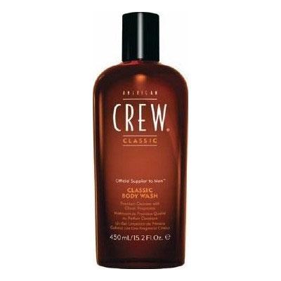 American Crew Гель для душа Classic Body Wash 450 млFS-00897American Crew Classic Body Wash - это нежный гель для душа с настоящим мужским ароматом, удивительно сочетающим специи и цитрусы. Эксракт корня женьшеня увлажняет и смягчает волосы и кожу головы. Глицерин помогает сохранить естественные свойства кожи. Витамины А и Е улучшают текстуру волос, повышают их силу. Масло кедрового дерева увлажняет сухую кожу головы, избавляет ее от раздражения.