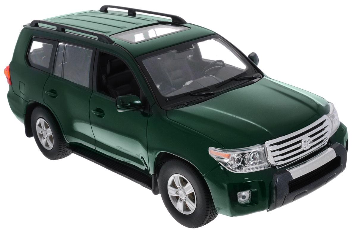 """Радиоуправляемая модель Rastar """"Toyota Land Cruiser"""" станет отличным подарком любому мальчику! Все дети хотят иметь в наборе своих игрушек ослепительные, невероятные и крутые автомобили на радиоуправлении. Тем более, если это автомобиль известной марки с проработкой всех деталей, удивляющий приятным качеством и видом. Одной из таких моделей является автомобиль на радиоуправлении Rastar """"Toyota Land Cruiser"""". Это точная копия настоящего авто в масштабе 1:16. Авто обладает неповторимым провокационным стилем и спортивным характером. Потрясающая маневренность, динамика и покладистость - отличительные качества этой модели. Возможные движения: вперед, назад, вправо, влево, остановка. Имеются световые эффекты. Пульт управления работает на частоте 40 MHz. Для работы игрушки необходимы 5 батареек типа АА (не входят в комплект). Для работы пульта управления необходима 1 батарейка напряжением 9V типа 6F22 (не входит в комплект)."""