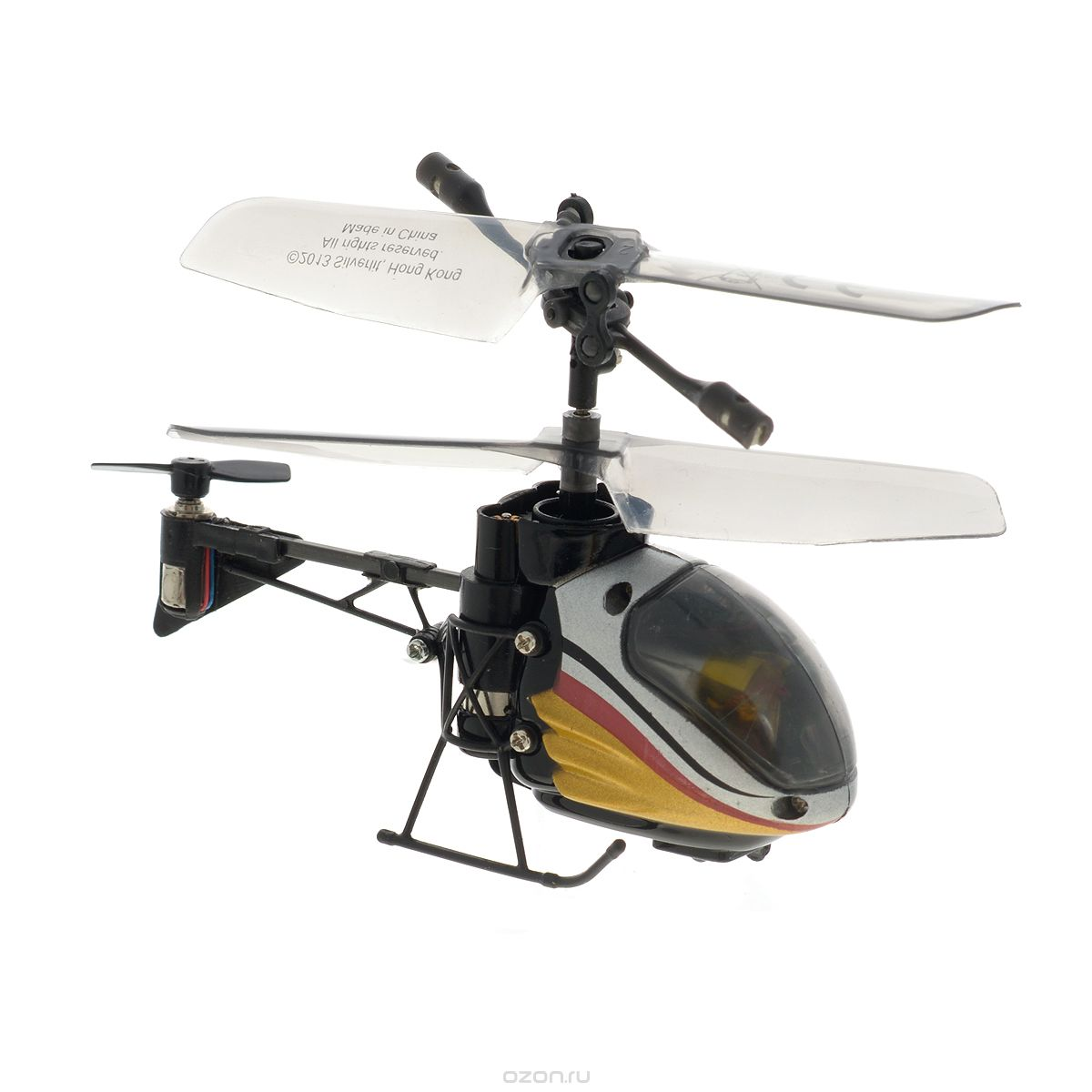 Silverlit Вертолет на радиоуправлении Nano Falcon цвет серый красный желтый пингвин с кольцом серый фигурист silverlit