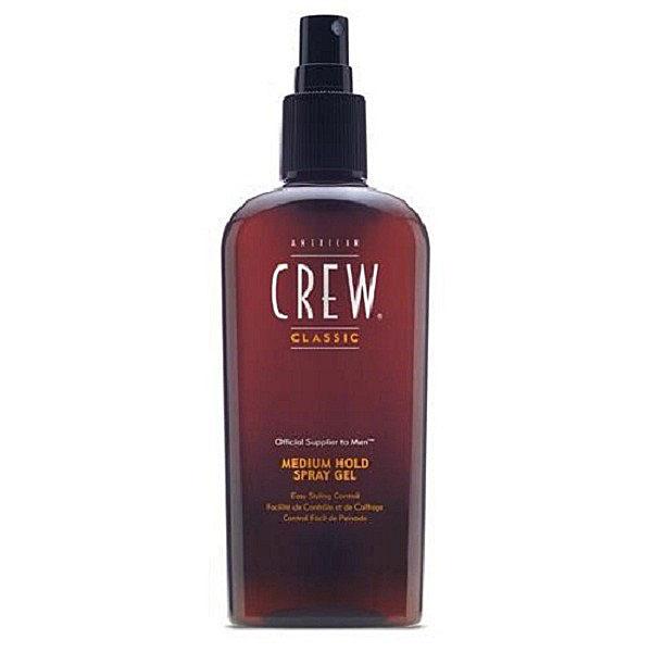 American Crew Спрей-гель для волос средней фиксации Classic Medium Hold Spray Gel 250 млFS-00897Спрей-гель для волос средней фиксации Classic Medium Hold Spray Gel позволит создать прическу любой формы и сложности. Средство помогает мягко придать волосам форму, не делая их жесткими, увеличивает объем прически благодаря воздействию на волосы витамина В5. Особая формула спрей-геля для укладки Medium Hold не оставляет никаких следов на волосах и одежде. Находка для тонких волос, которые теперь выглядят утолщенными и более здоровыми. Средство не вызывает дискомфорта и сухости кожи головы благодаря отсутствию спирта и низкому уровню pH.