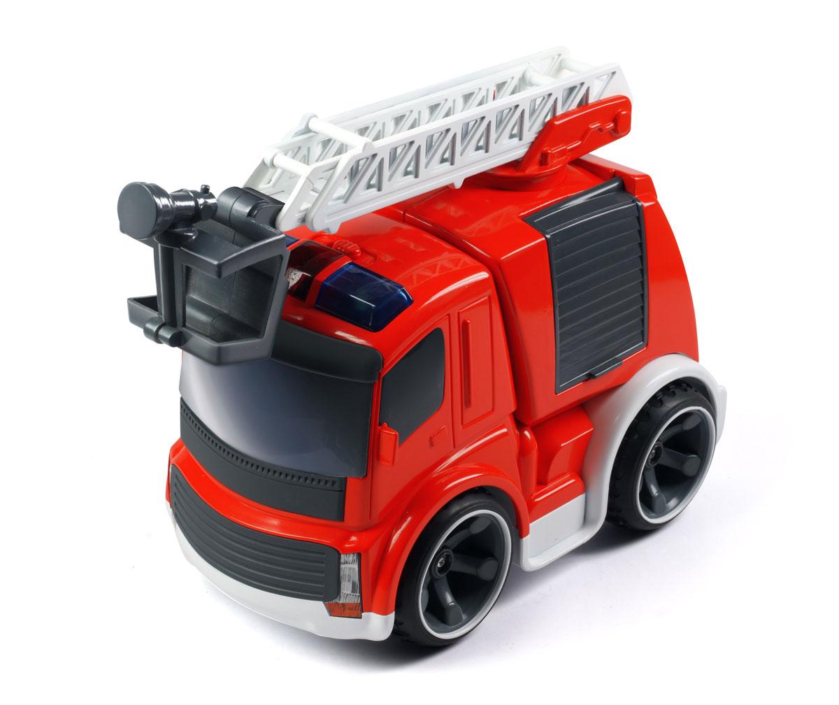 """Радиоуправляемая игрушка Silverlit """"Fire Truck"""" привлечет внимание не только ребенка, но и взрослого, и обязательно понравится вашему малышу! Удивительно реалистичная пожарная машина изготовлена из прочного легкого пластика, шины выполнены из мягкой резины. Машинка при помощи удобного и эргономичного пульта управления может перемещаться вперед, дает задний ход, поворачивает влево и вправо, останавливается. На пульте имеются кнопка включения звуковых эффектов (звук запуска двигателя и автомобильный сигнал) и кнопка включения фар. Пожарная лестница машинки может раскладываться, а также поворачиваться на 360°. Автомобиль может функционировать без дополнительной подзарядки в течение 40 минут. В комплект входят машинка, пульт управления и инструкция по эксплуатации на русском языке. Ваш ребенок часами будет играть с этой игрушкой, придумывая различные истории и устраивая соревнования. Порадуйте его таким замечательным подарком! Для работы машинки необходимо..."""