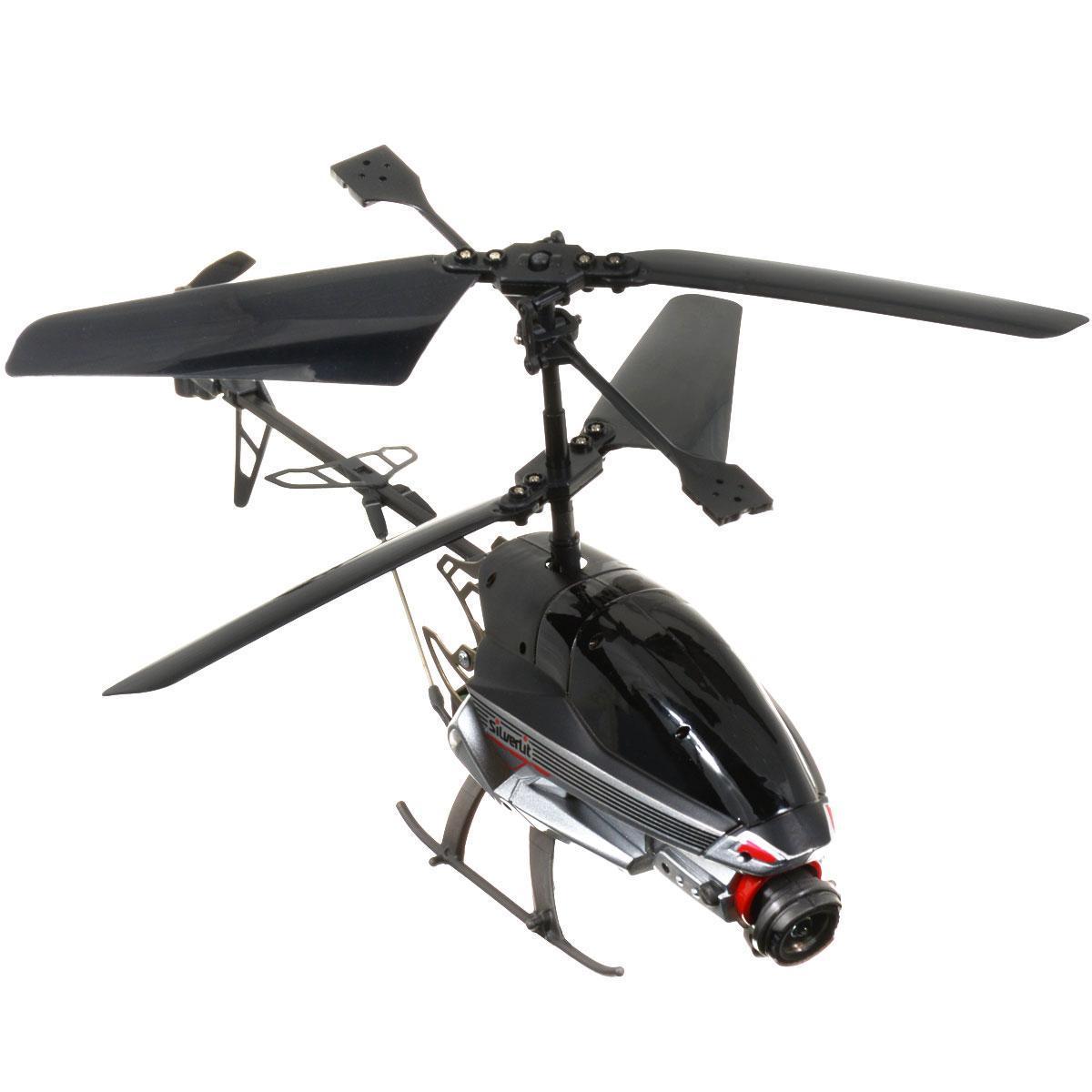 """Радиоуправляемая модель Silverlit """"Вертолет Spy Cam II"""" привлечет внимание не только ребенка, но и взрослого, и станет отличным подарком любителю воздушной техники. Вертолет оснащен встроенным гироскопом, который помогает скорректировать и устранить нежелательные вращения корпуса вертолета. Благодаря гироскопу сохраняется высокая устойчивость полета, что позволяет полностью контролировать его процесс, управляя без суеты и страха сломать игрушку. Вертолет оснащен функцией фото и видеосъемки, позволяющей отснять видео длительностью 60 секунд или сделать 300 фотографий. Основные направления движения вертолета: вперед-назад, вправо-влево, вверх-вниз. Каждый запуск вертолета будет максимально комфортным и принесет вам яркие впечатления! Вертолет работает от встроенного литий-полимерного аккумулятора c напряжением 3,7V 200 mAh. Пульт управления работает от 6 батареек напряжением 1,5V типа AA (не входят в комплект)."""
