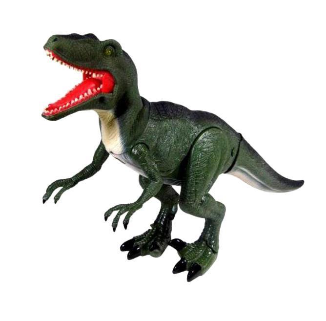 Удивительная игрушка компании Dragon-I предлагает ребенку познакомиться с одним из ярких представителей конца мелового периода – велоцираптором. Этот динозавр, живший более 80 млн лет назад, не выделялся значительными размерами, однако, с современной точки зрения он выглядит устрашающе. Его огромные когти и оскаленная пасть зубов наводит ужас, что в нем и нравится мальчикам. Электронная радиоуправляемая игрушка Велоцираптор - это почти робот, которым можно управлять с пульта. Стоит отдать команду и мощные ноги древнего ящера придут в движение. При ходьбе велоцираптора раздается ужасающий рев, а глаза горят красным светом. Настоящий подарок для мальчишек, увлекающихся древними ящерами. Радиус действия пульта 3 м. В комплект входят три батарейки для динозавра типа АА. Батарейки для пульта в комплект не включены. Высота игрушки составляет 20 см.
