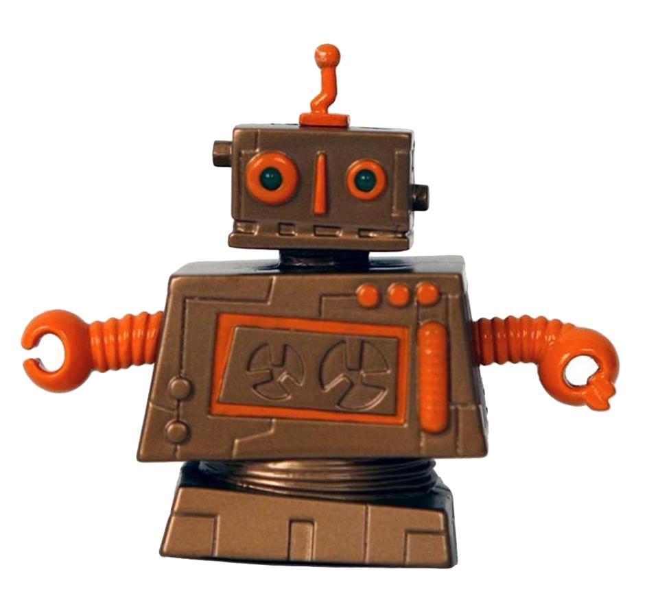 Коллекционный мини-робот Кланк отличается оригинальным дизайном, некоторые его детали светятся в темноте. Он очень быстро двигается вперед и назад, разворачивается на 360 градусов, а также издает потрясающие звуки. В комплекте удобный пульт дистанционного управления. Собери всю коллекцию роботов. Всего 12 уникальных дизайнерских разработок.