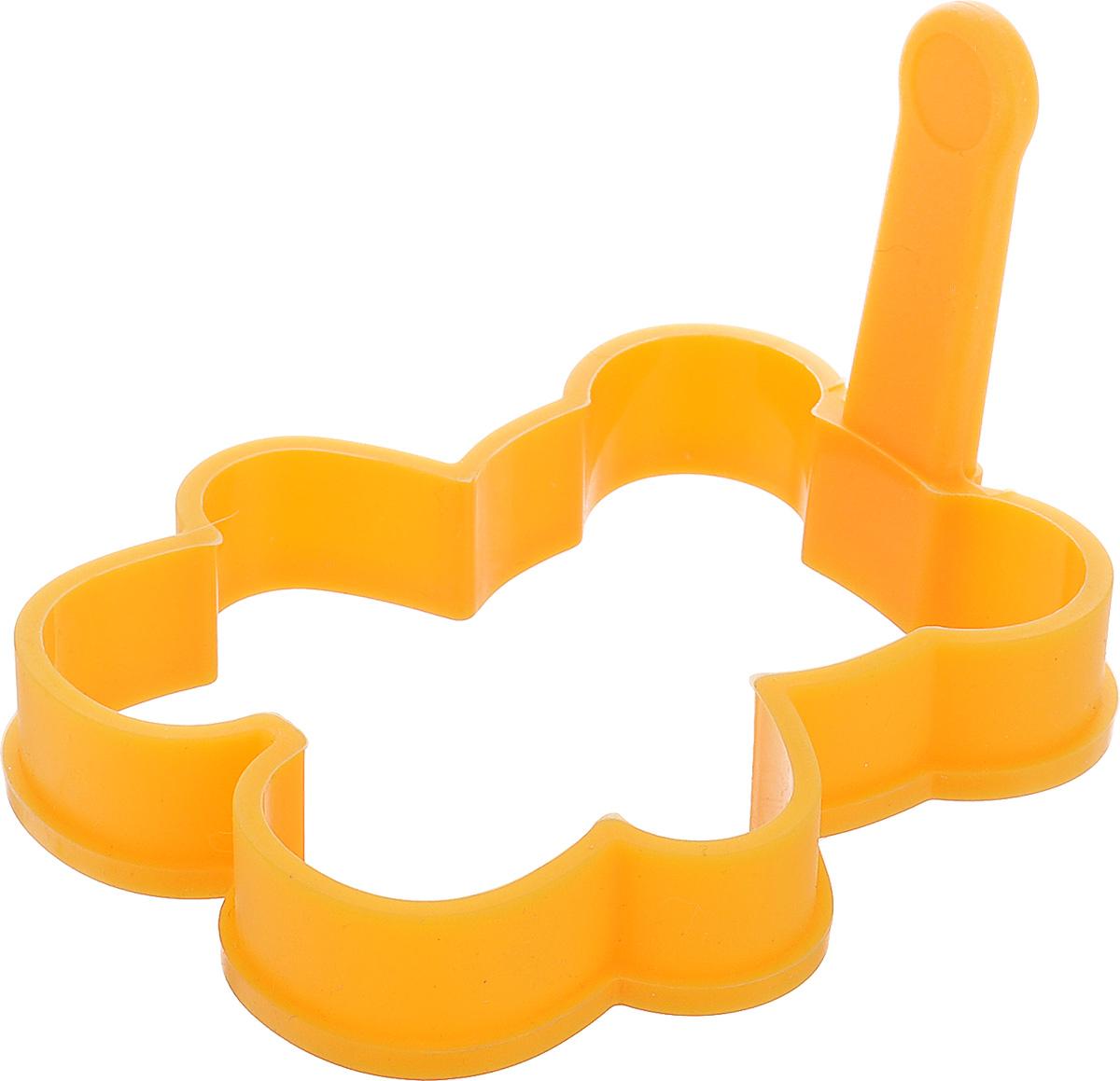 Форма для выпечки Tescoma Delicia Kids, универсальная, цвет: оранжевый, 10,5 х 12 смFS-91909Форма для выпечки Tescoma Delicia Kids, изготовленная из высококачественного силикона, идеально подойдет для приготовления глазуньи, омлета, оладьев или драников на сковороде или в духовке, а также для приготовления желе, пудингов. Выдерживает температуру от -40°С до +230°С. Оснащена удобной ручкой.Можно мыть в посудомоечной машине и использовать в СВЧ-печи.Размер рабочей части: 10,5 х 12 см.Длина ручки: 5,5 см.