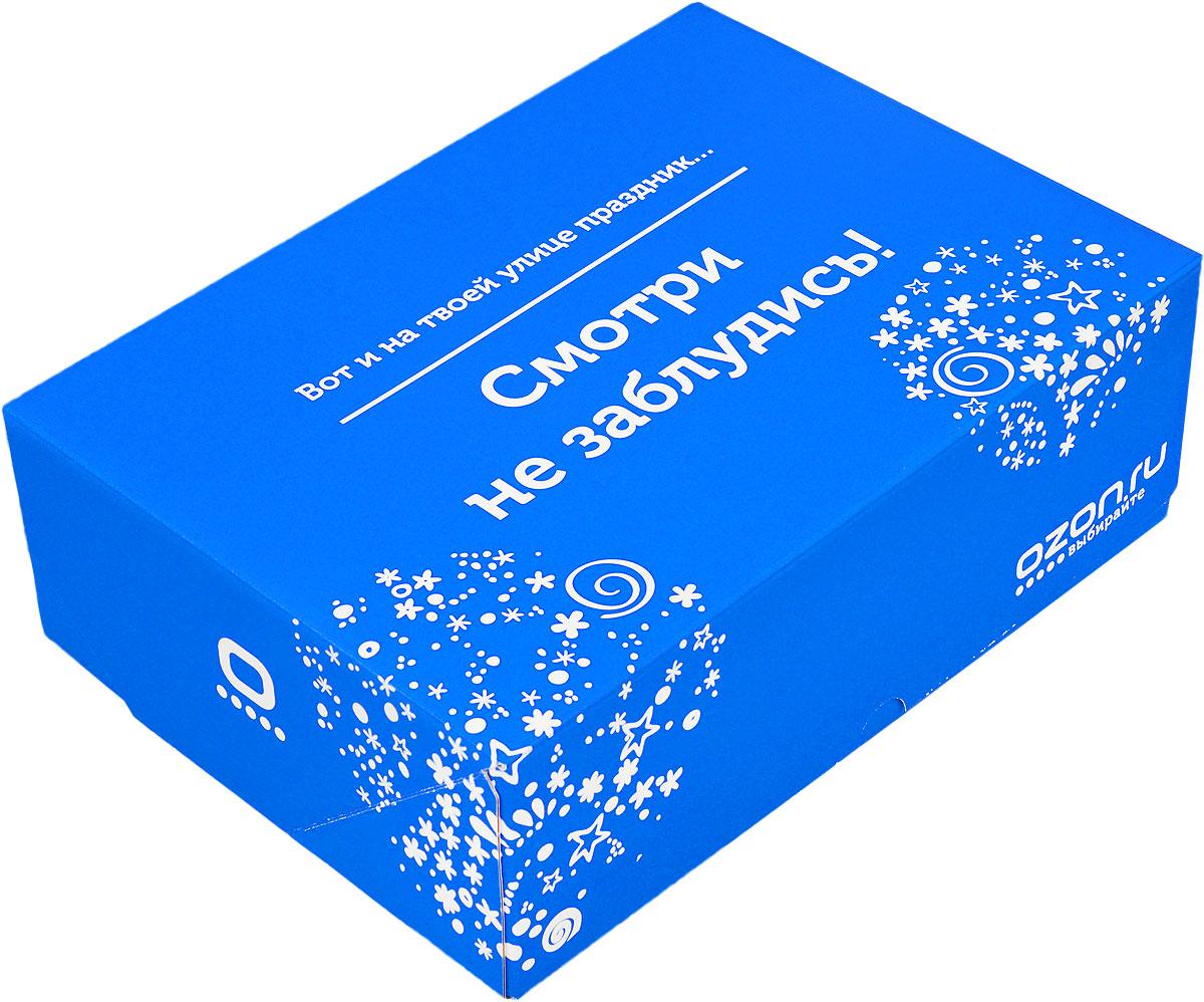 Подарочная коробка OZON.ru. Большой размер, Вот и на твоей улице праздник. Смотри не заблудись!. 28.5 х 19.4 х 9 см695806_42Складная подарочная коробка от OZON.ru с веселой надписью Вот и на твоей улице праздник! Смотри не заблудись! - это интересное решение для упаковки. Коробка выполнена из тонкого картона с матовой ламинацией. Данная упаковка отлично подходит для небольших подарков и не требует дополнительных элементов - лент или бантов. Размер (в сложенном виде): 28.5 х 19.4 х 9 см.Размер (в разложенном виде): 50 х 29 х 0.5 см.