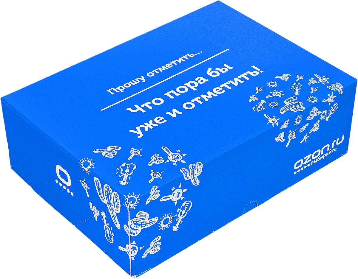 Подарочная коробка OZON.ru. Большой размер, Прошу отметить, что пора бы уже и отметить!. 28.5 х 19.4 х 9 см695806_23Складная подарочная коробка от OZON.ru с веселой надписью Прошу отметить… Что пора бы уже и отметить! - это интересное решение для упаковки. Коробка выполнена из тонкого картона с матовой ламинацией. Данная упаковка отлично подходит для небольших подарков и не требует дополнительных элементов - лент или бантов. Размер (в сложенном виде): 28.5 х 19.4 х 9 см.Размер (в разложенном виде): 50 х 29 х 0.5 см.