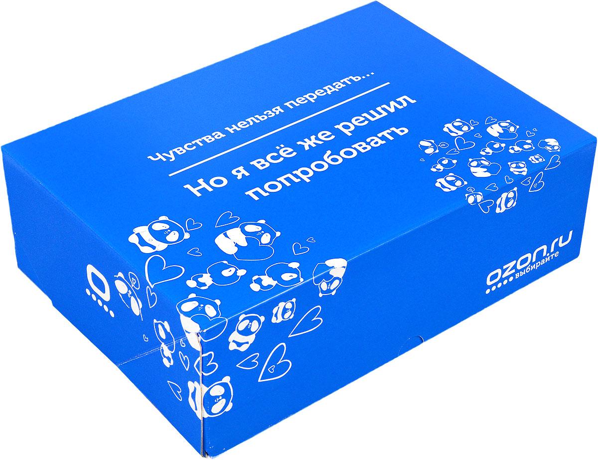 Подарочная коробка OZON.ru. Большой размер, Чувства нельзя передать, но я все же решил попробовать!. 28.5 х 19.4 х 9 смC0038550Складная подарочная коробка от OZON.ru с веселой надписью Чувства нельзя передать… Но я всё же решил попробовать - это интересное решение для упаковки. Коробка выполнена из тонкого картона с матовой ламинацией. Данная упаковка отлично подходит для небольших подарков и не требует дополнительных элементов - лент или бантов. Размер (в сложенном виде): 28.5 х 19.4 х 9 см.Размер (в разложенном виде): 50 х 29 х 0.5 см.